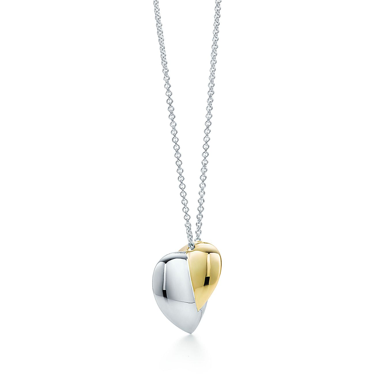 Frank Gehry Hearts Pendant In Sterling Silver And 18k