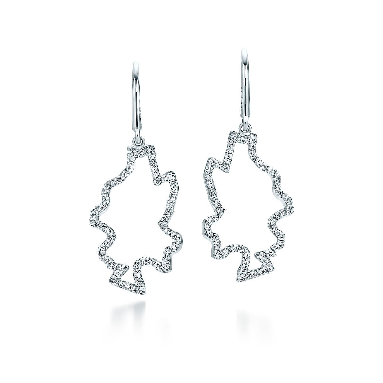 Frank Gehry Leaves Earrings In 18k White Gold With