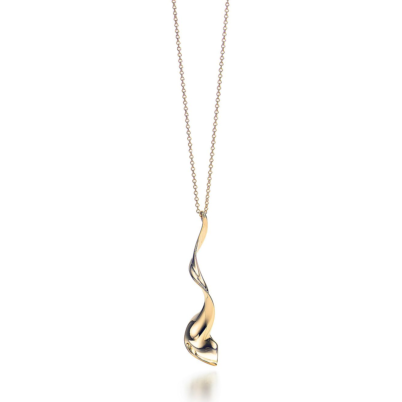 Frank Gehry Orchid Drop Pendant In 18k Gold Small