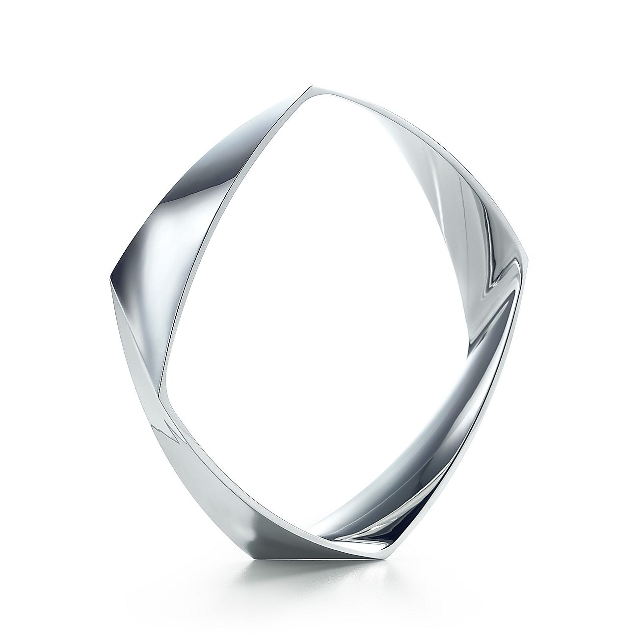 Frank Gehry Torque Narrow Bangle In Sterling Silver