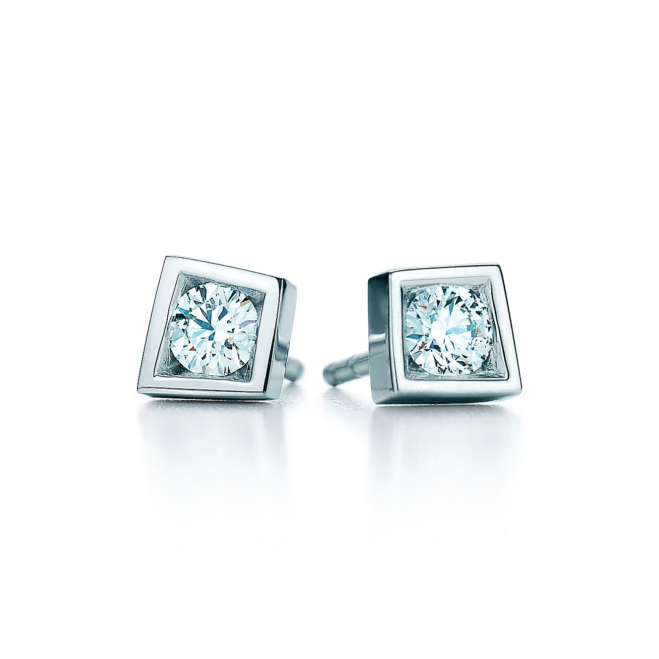 Frank Gehry Torque Bead Earrings Of Diamonds In 18k White