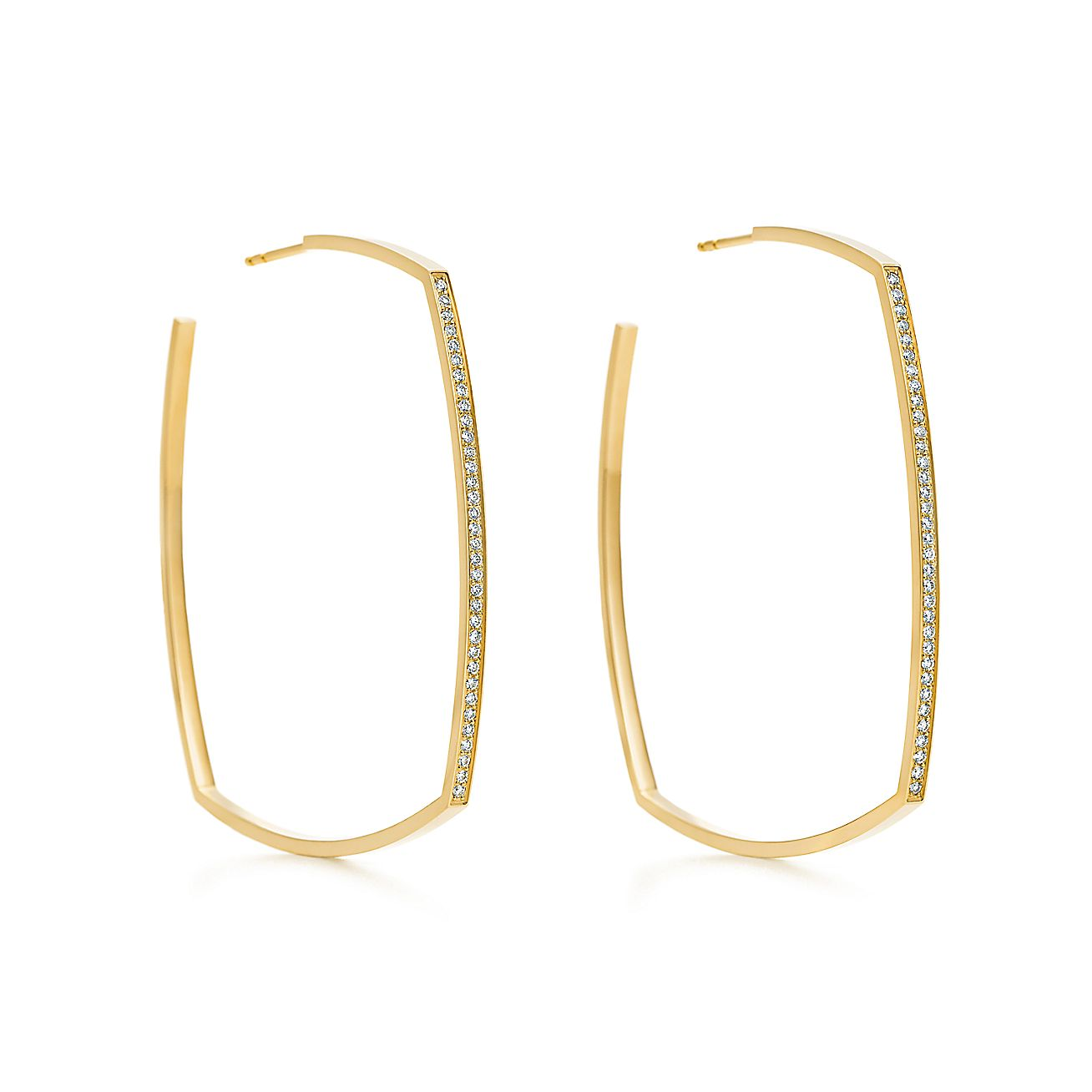 Frank Gehry Torque Micro Hoop Earrings In 18k Gold With