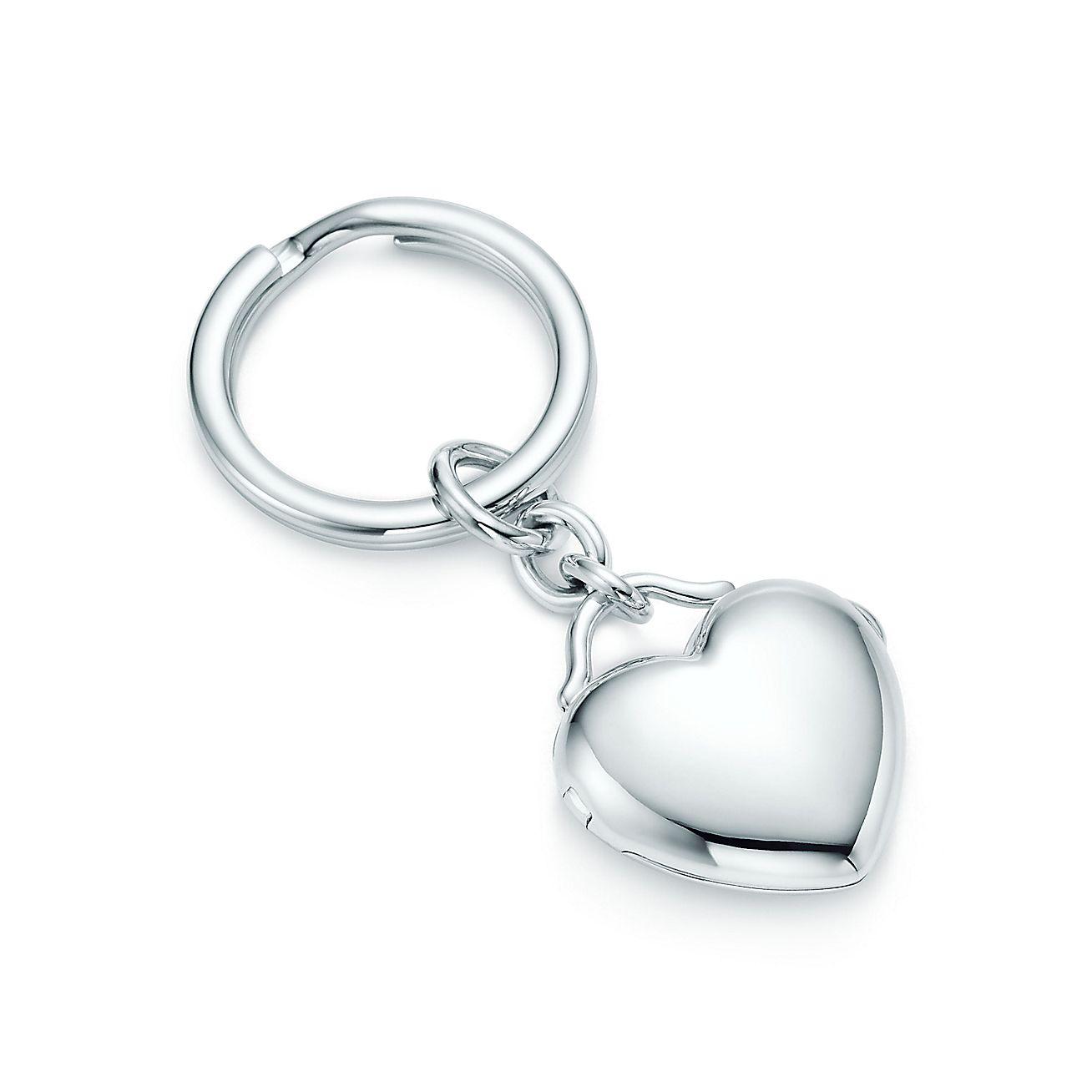heart locket key ring in sterling silver tiffany co. Black Bedroom Furniture Sets. Home Design Ideas