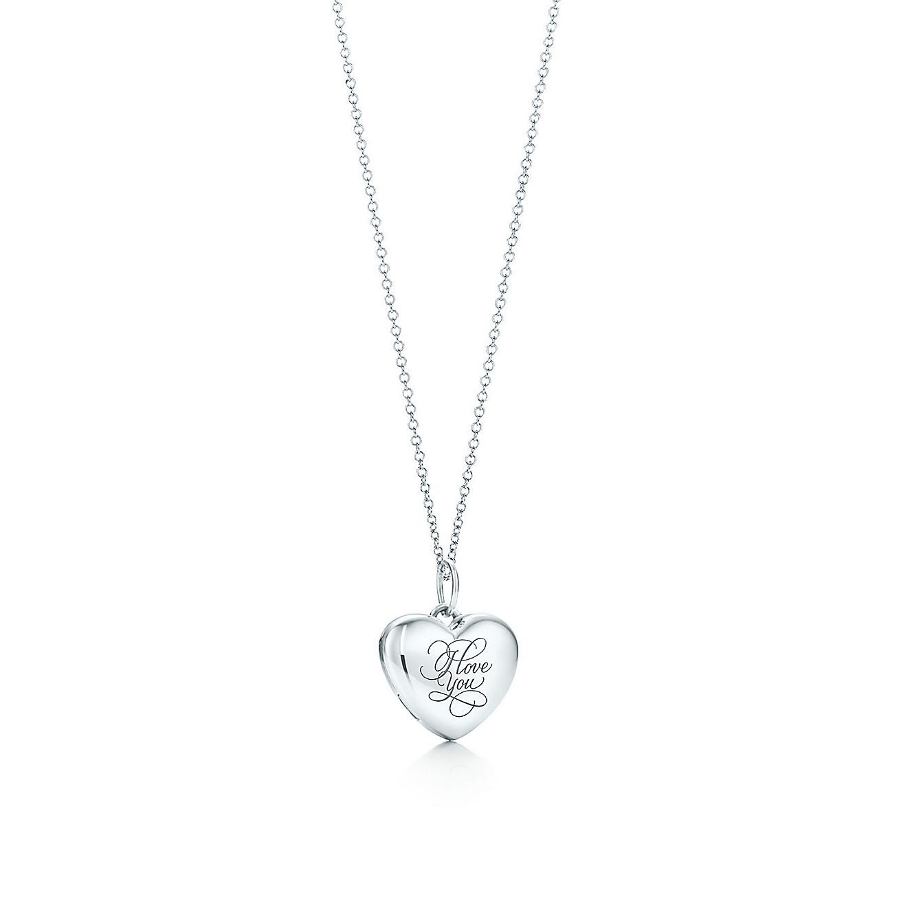 """I Love You"" heart locket pendant"