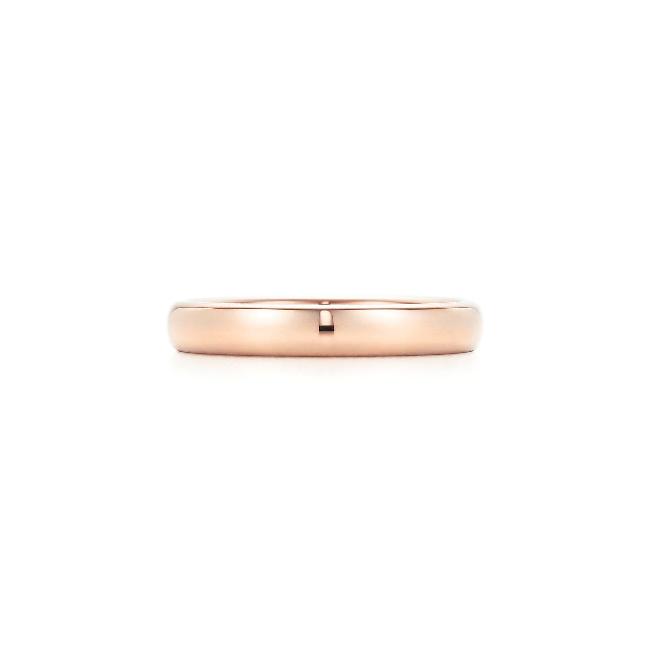 Lucida Bands: Lucida® Band Ring In 18k Rose Gold, 3mm Wide.