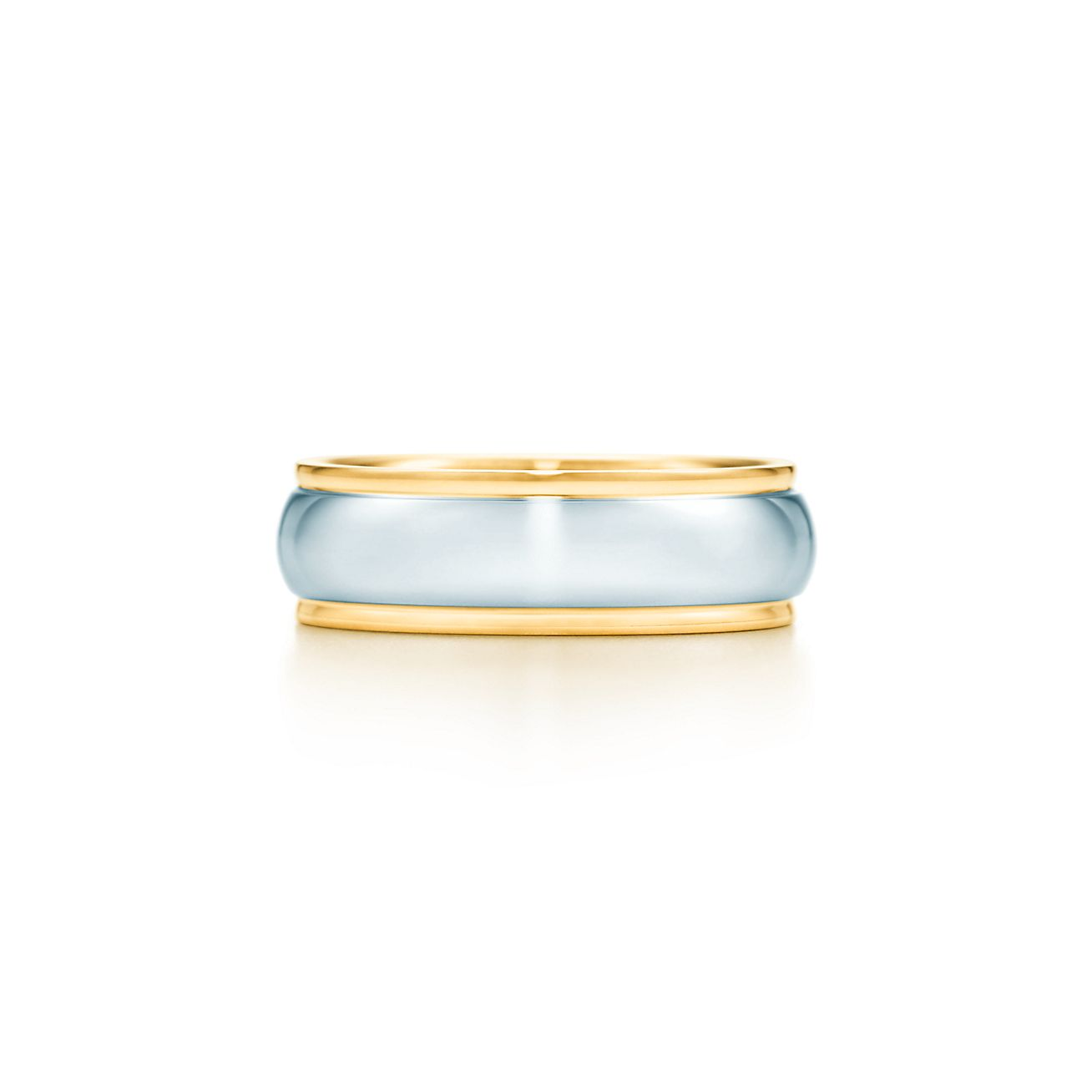 Lucida Bands: Lucida® Band Ring With Platinum In 18k Gold, 6 Mm Wide