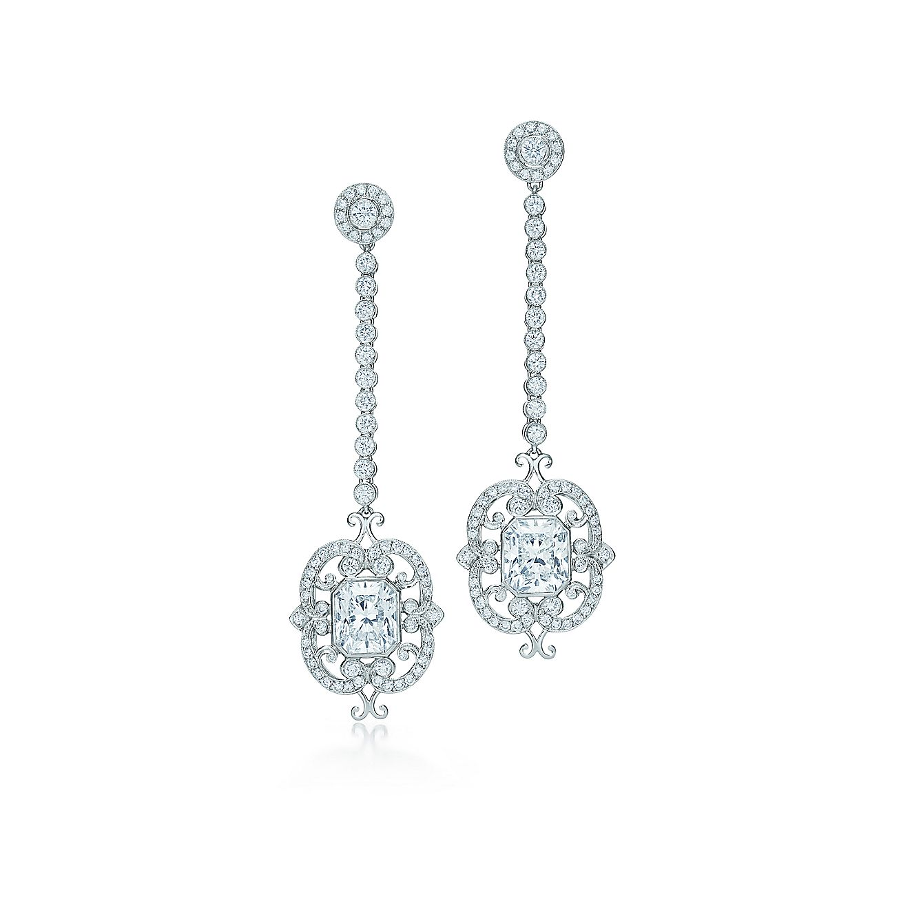 Lucida®:Diamond Drop Earrings
