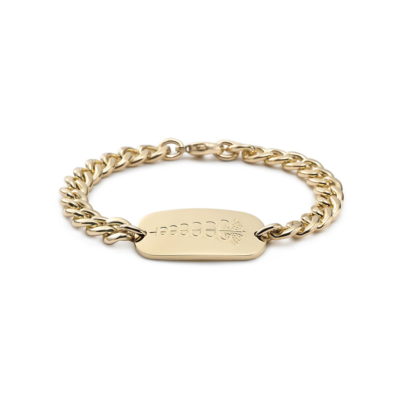 i d bracelet in 18k gold co