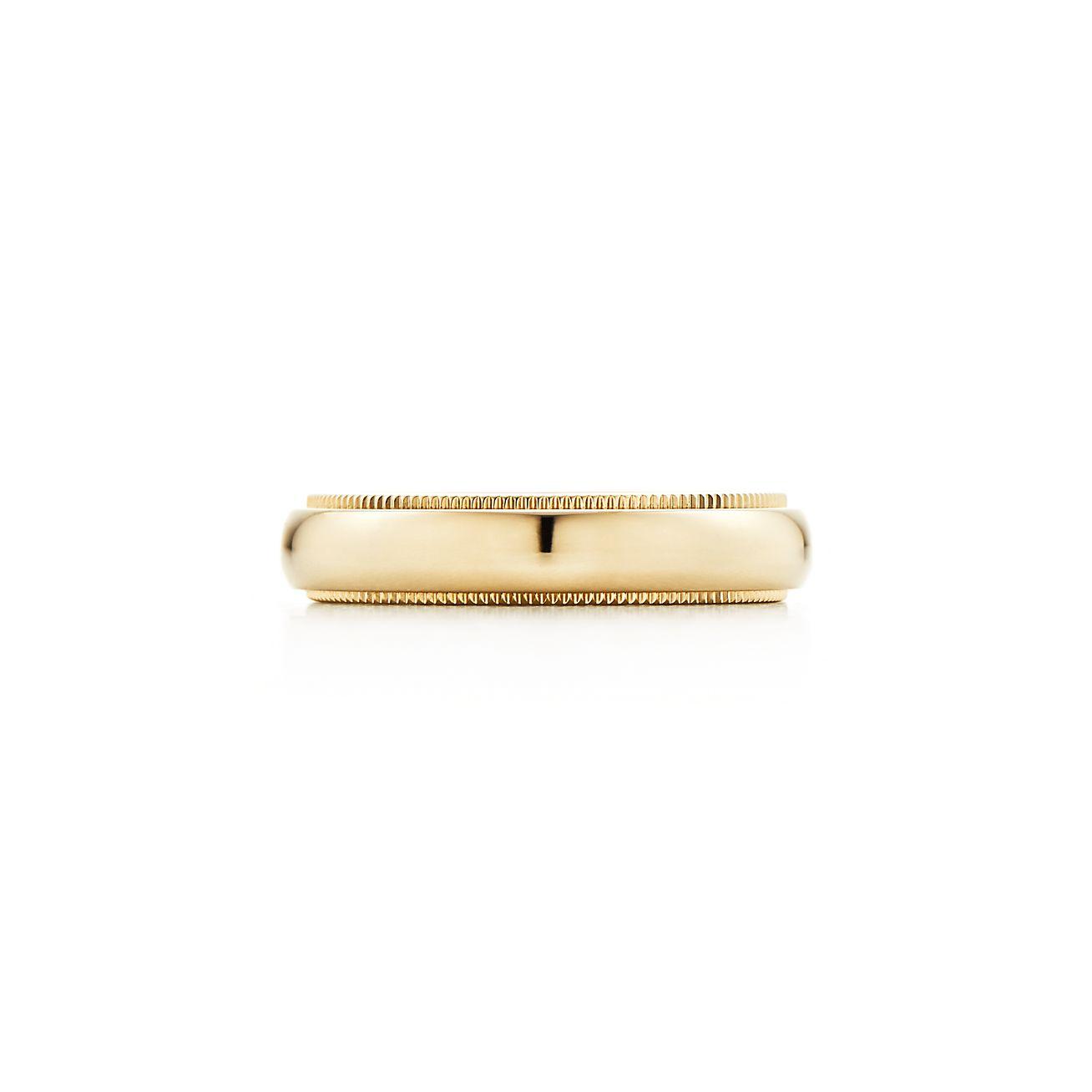 18k gold 4mm wedding ring