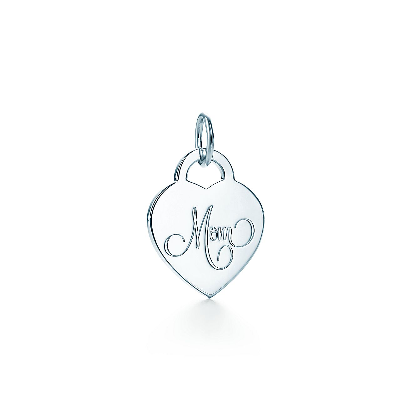 """Mom"" Heart Tag Charm"