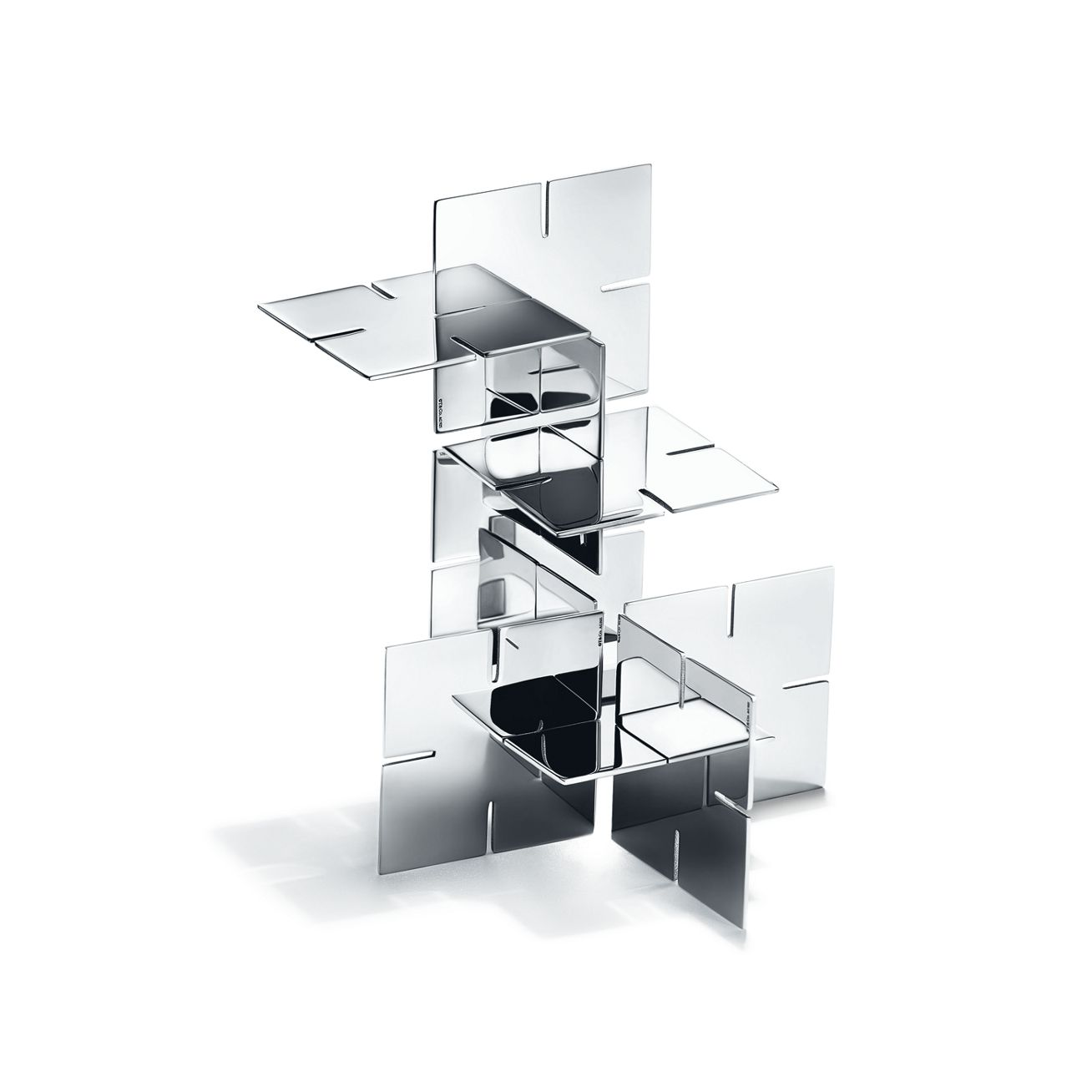 Marvelous photograph of Out of Retirement desk puzzle in sterling silver. Tiffany & Co. with #5A5A71 color and 1308x1308 pixels