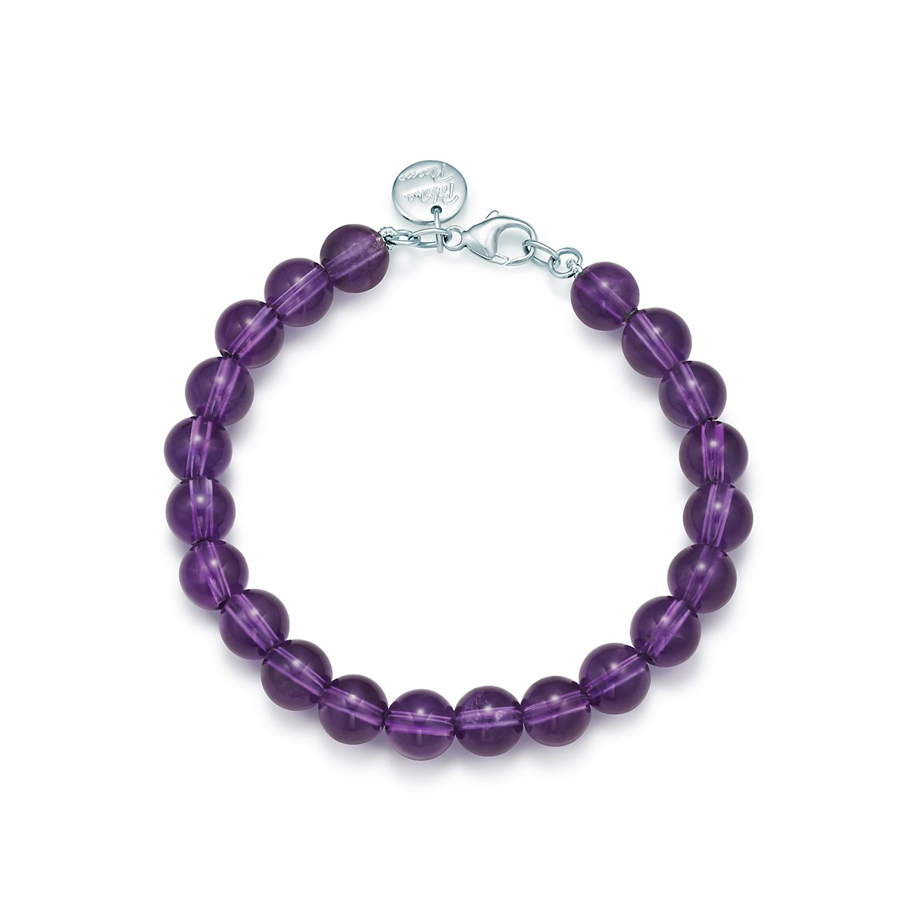 picasso 174 bead bracelet in amethyst with sterling