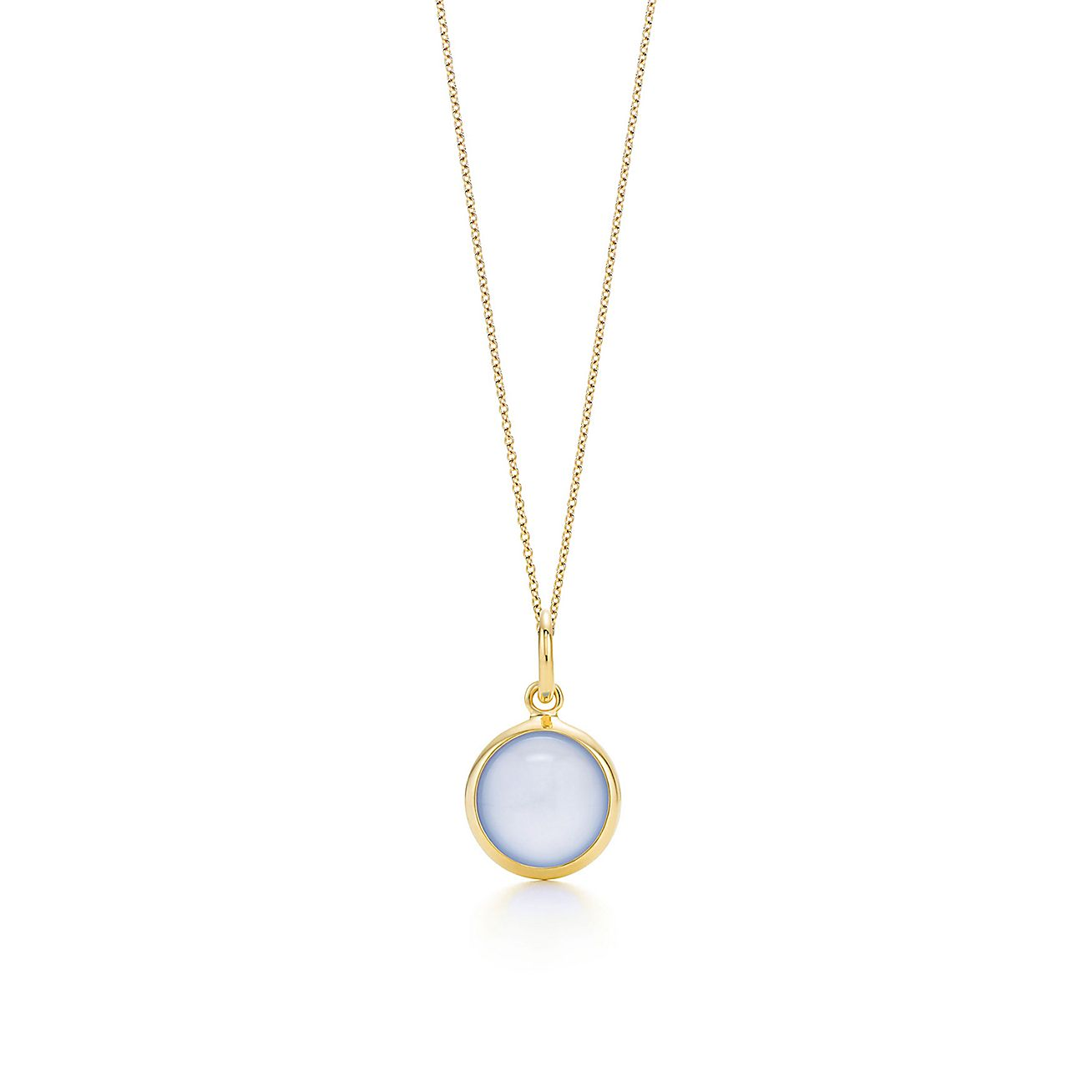 Paloma Picasso®:blue chalcedony dot charm and chain