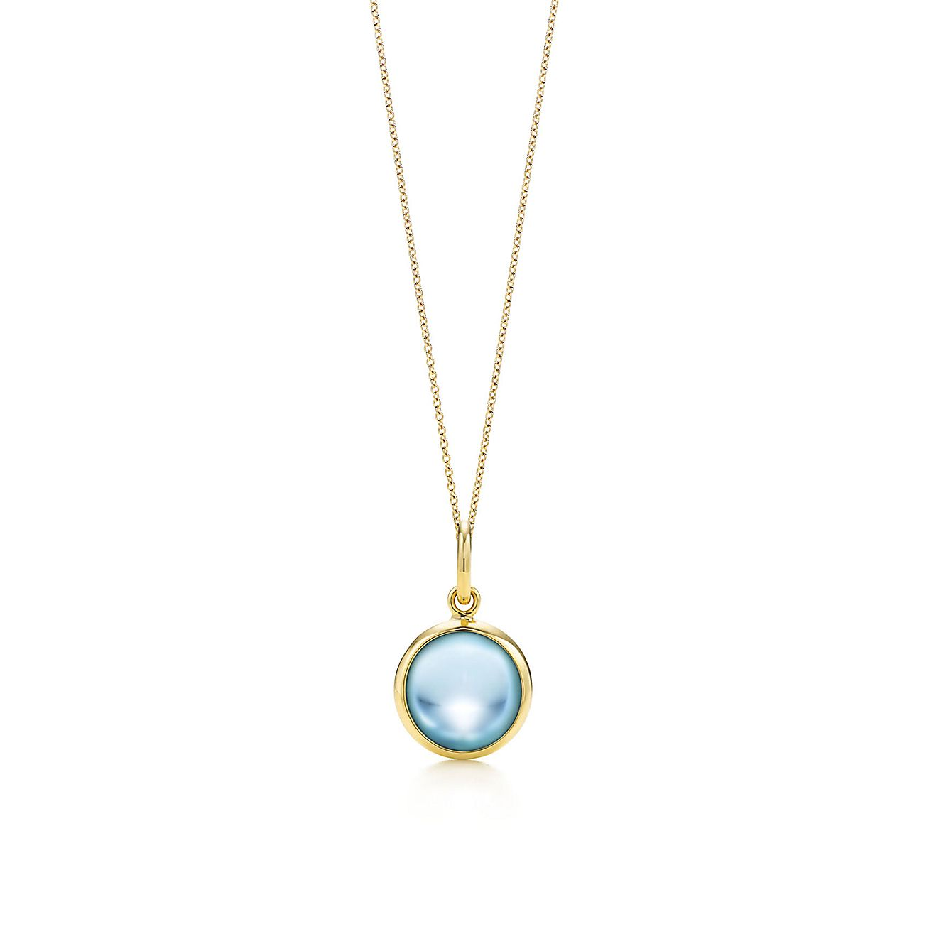Paloma Picasso®:blue topaz dot charm and chain