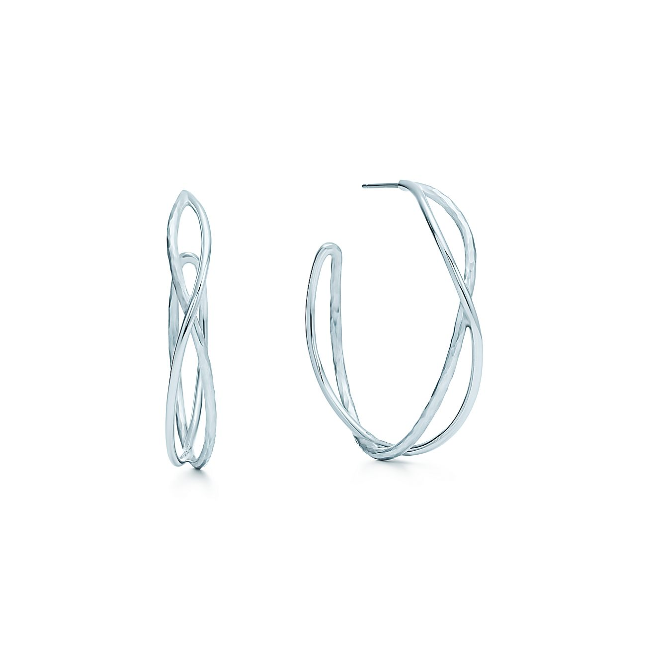 Paloma Picasso®:Hammered Crossover<br>Hoop Earrings