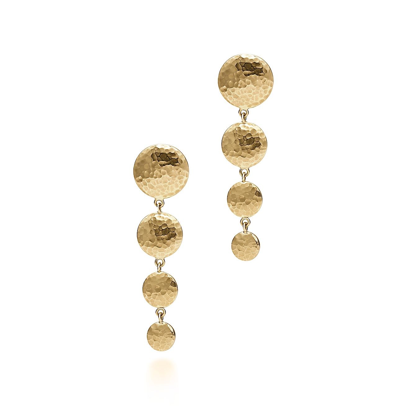 Paloma Picasso®:Hammered Disc<br>Drop Earrings