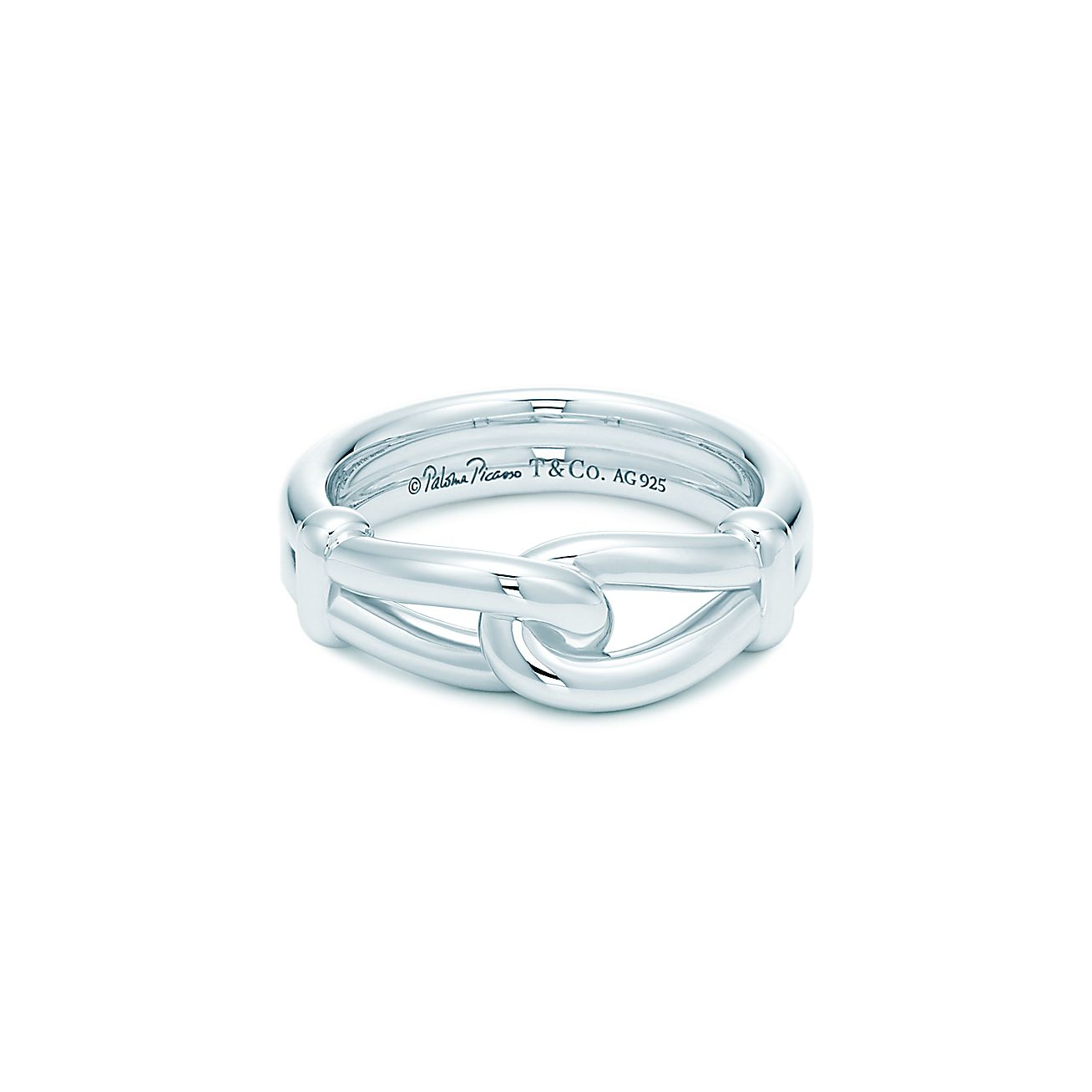 Paloma picasso knot ring in sterling silver tiffany co for Tiffany mens wedding ring