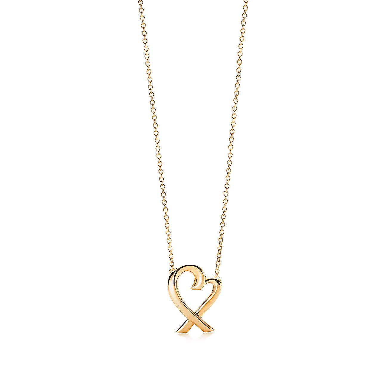 Paloma PicassoR Loving Heart Pendant In 18k Gold Small