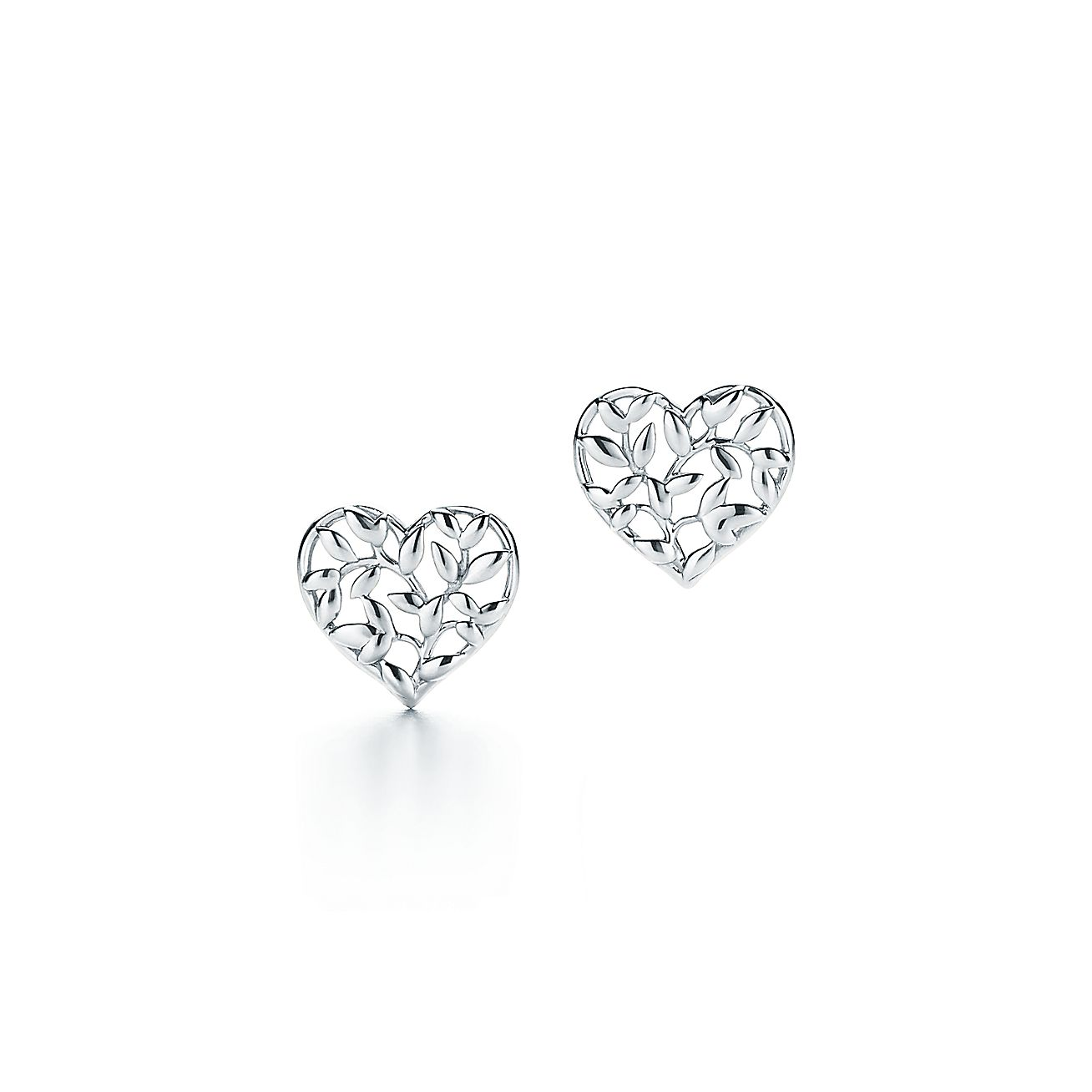 Paloma Picasso 174 Olive Leaf Heart Earrings In Sterling