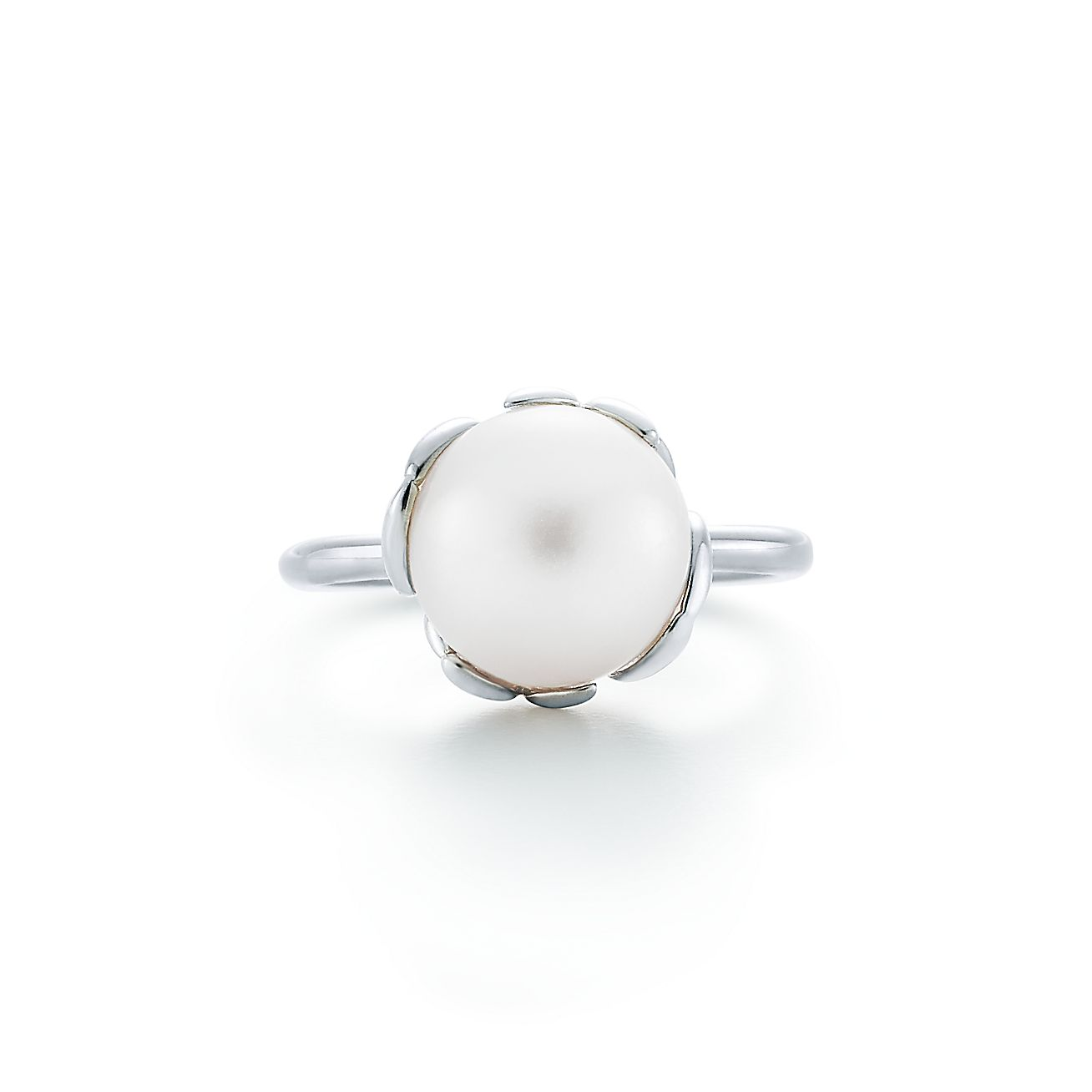 Paloma Picasso® Olive Leaf Pearl Ring In Sterling Silver  Tiffany & Co