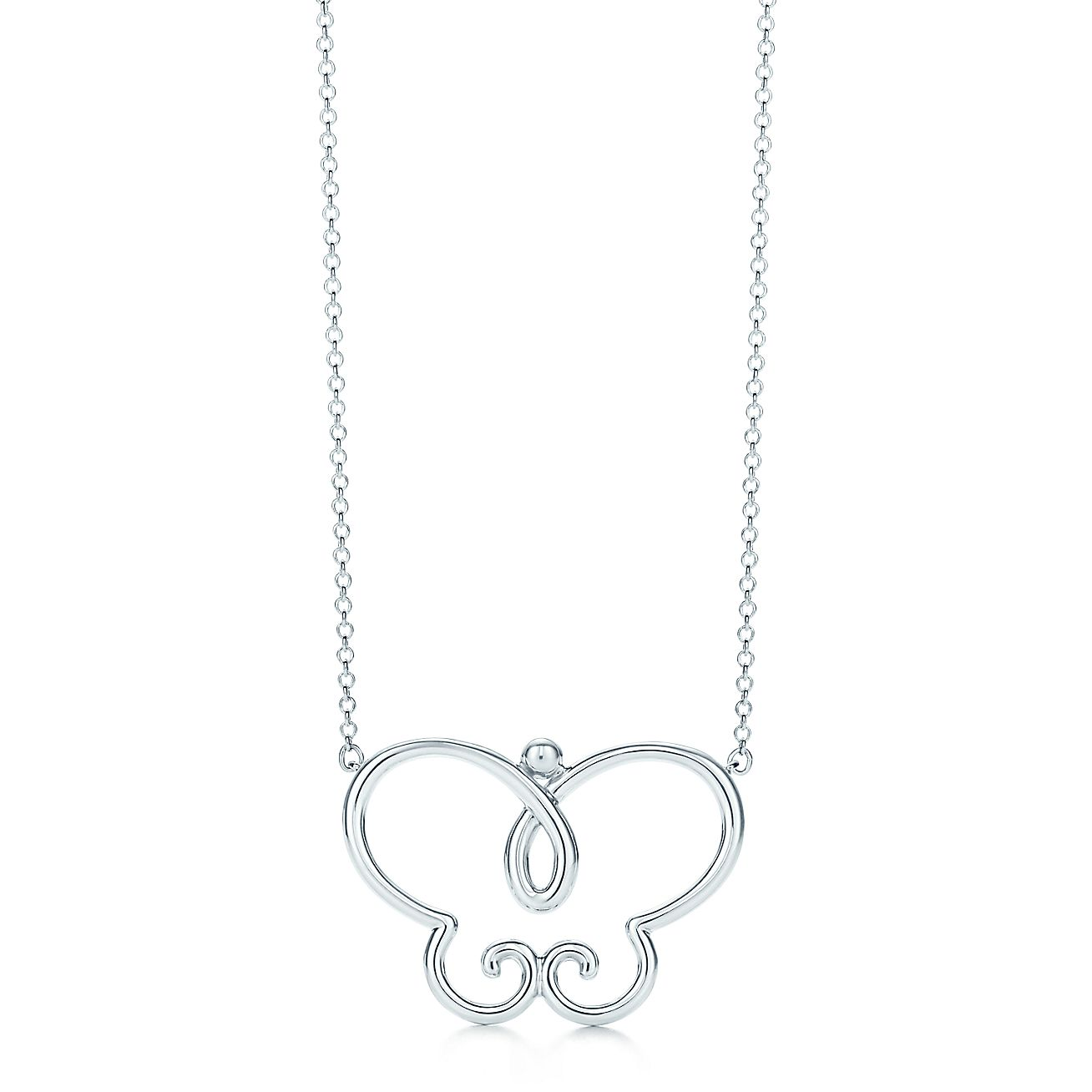 Villa Paloma butterfly pendant in sterling silver, large