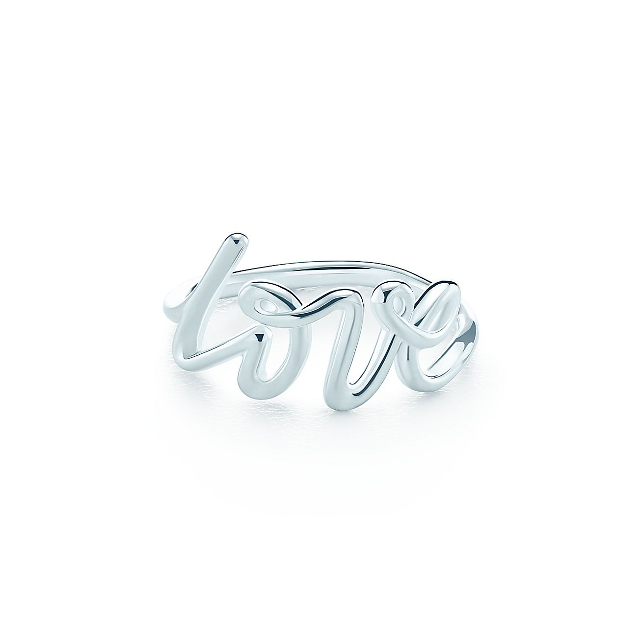 Paloma\'s Graffiti love ring in sterling silver. | Tiffany & Co.