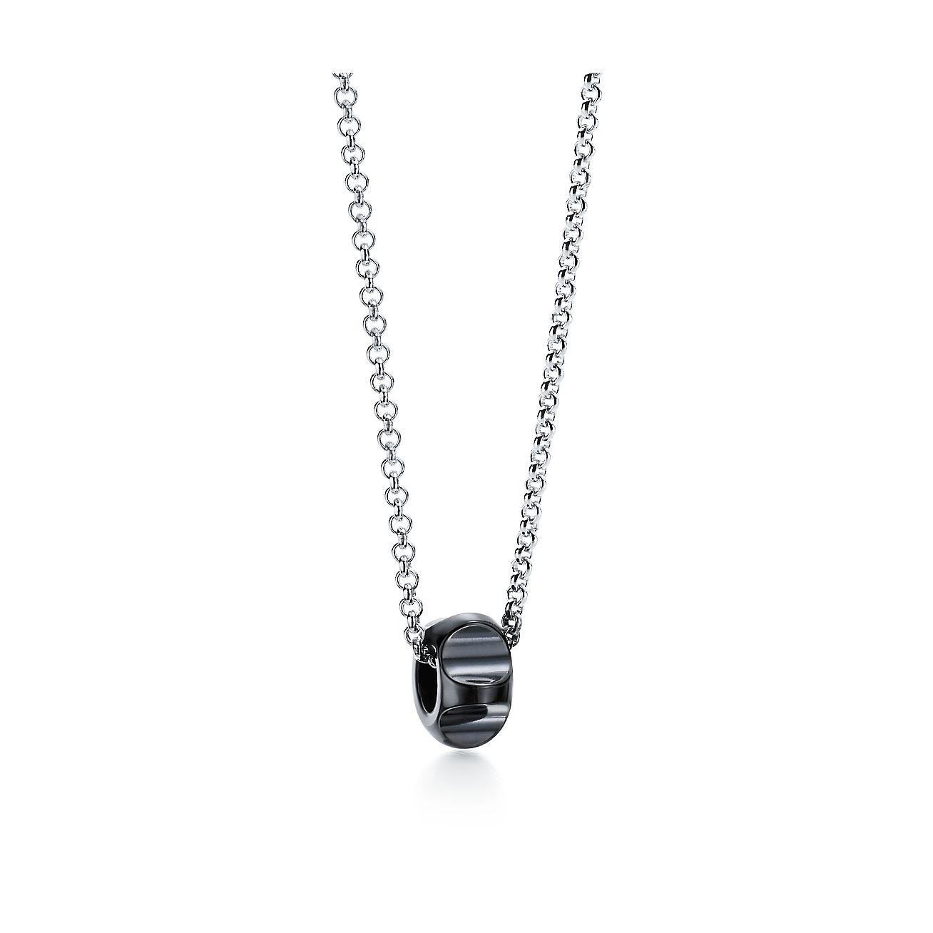 Palomas groove bead pendant in titanium tiffany co palomas groovebead pendant aloadofball Images