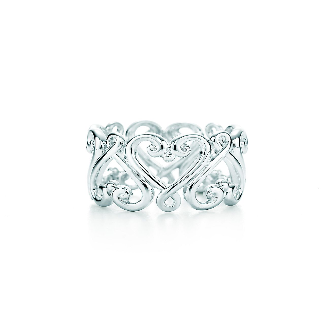 paloma 39 s venezia goldoni heart band ring in sterling silver tiffany co. Black Bedroom Furniture Sets. Home Design Ideas