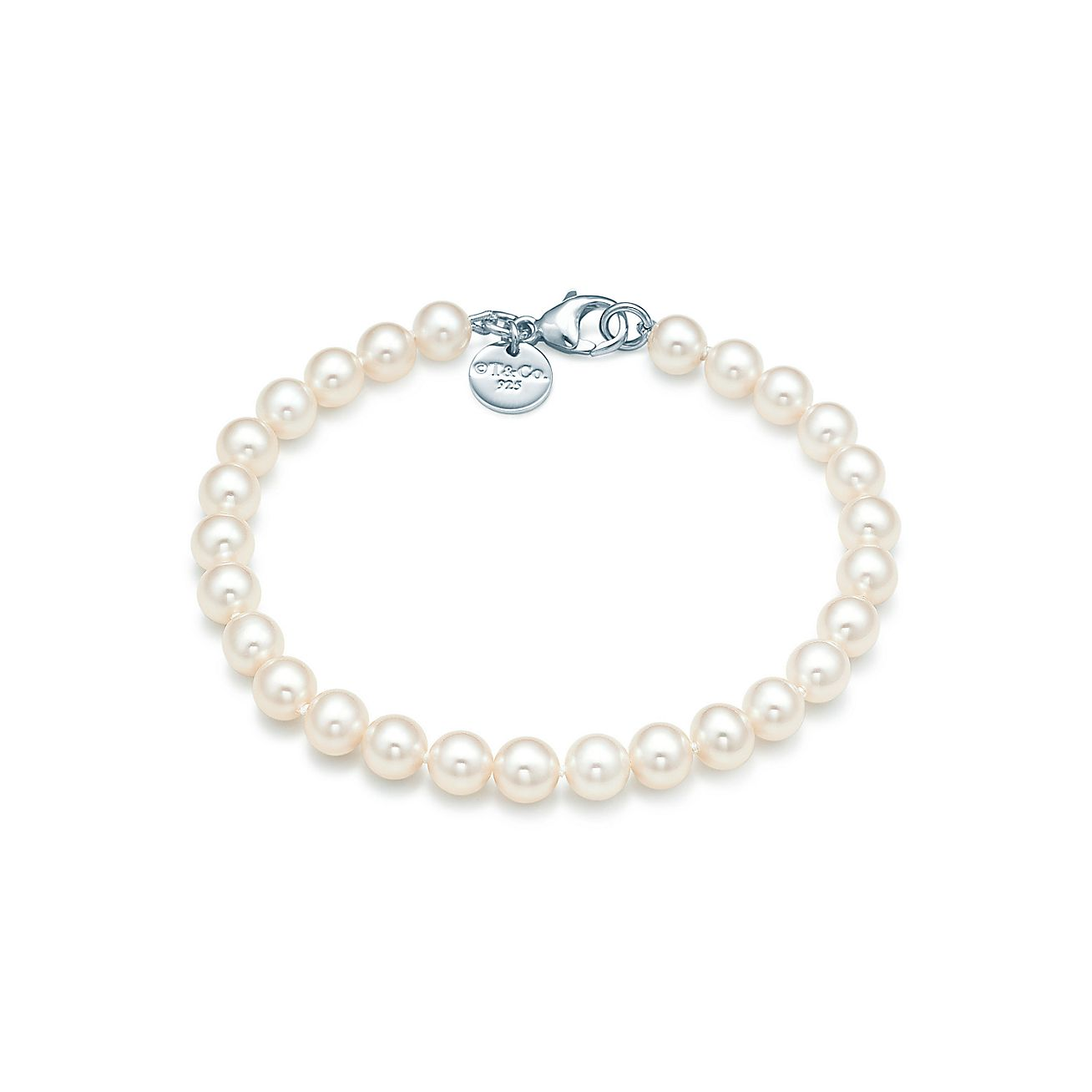 Perlenarmband  Perlenarmband mit Sterlingsilberverschluss.   Tiffany & Co.
