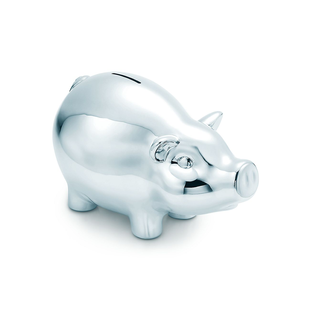 Piggy bank in sterling silver tiffany co - Engraved silver piggy bank ...