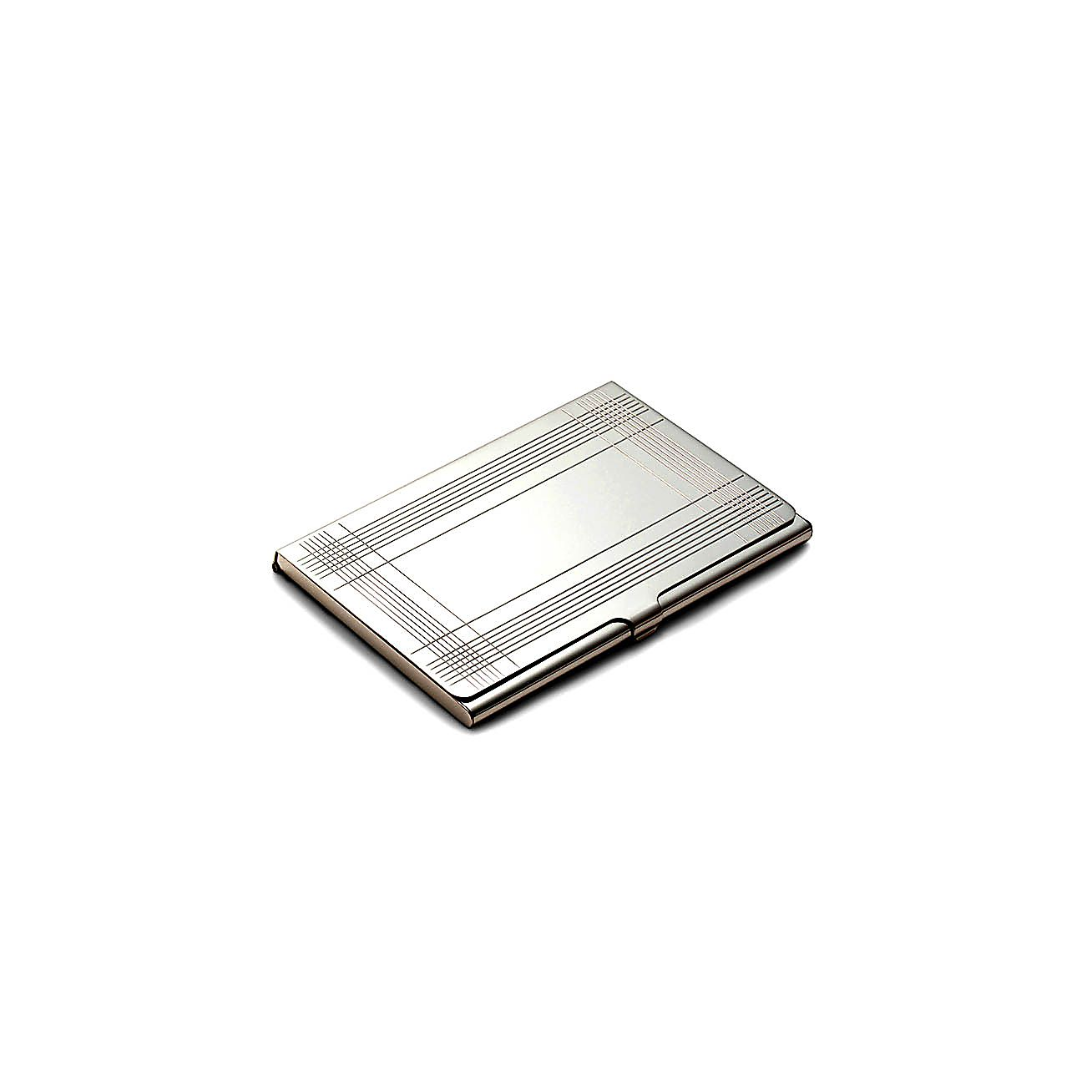 Plaid business card case in sterling silver tiffany co for Tiffany business card case