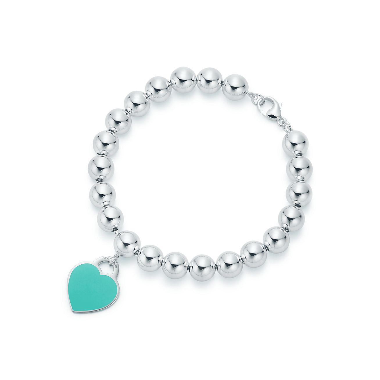 Return to Tiffany™  Bracelet Plaque Cœur _alternative,view,1