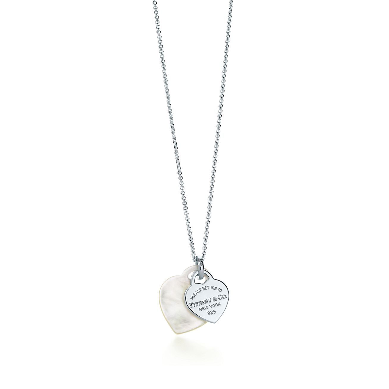 Return to tiffany double heart pendant in mother of pearl and return to tiffany double heart pendant mozeypictures Images