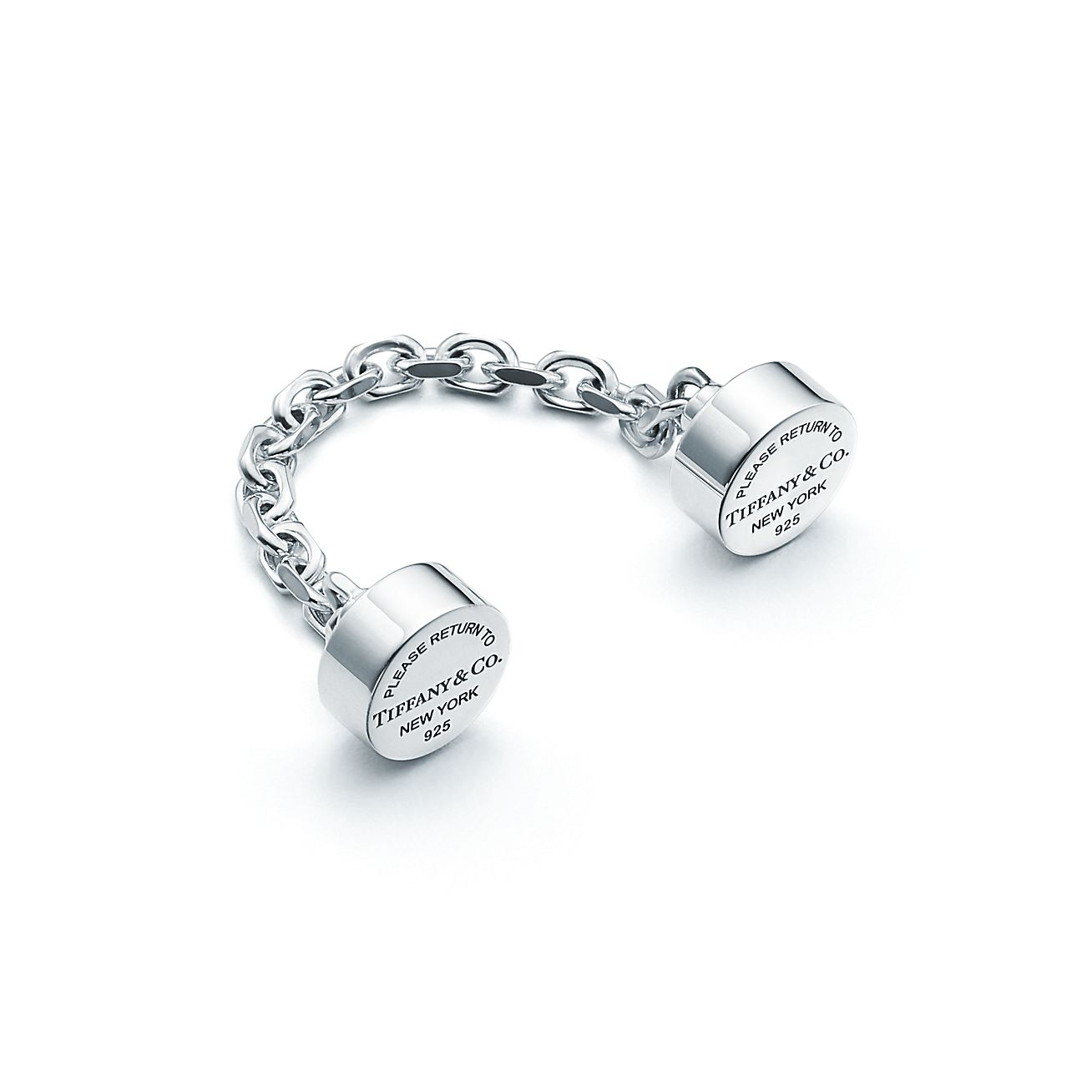 return to 174 chain key ring in sterling silver