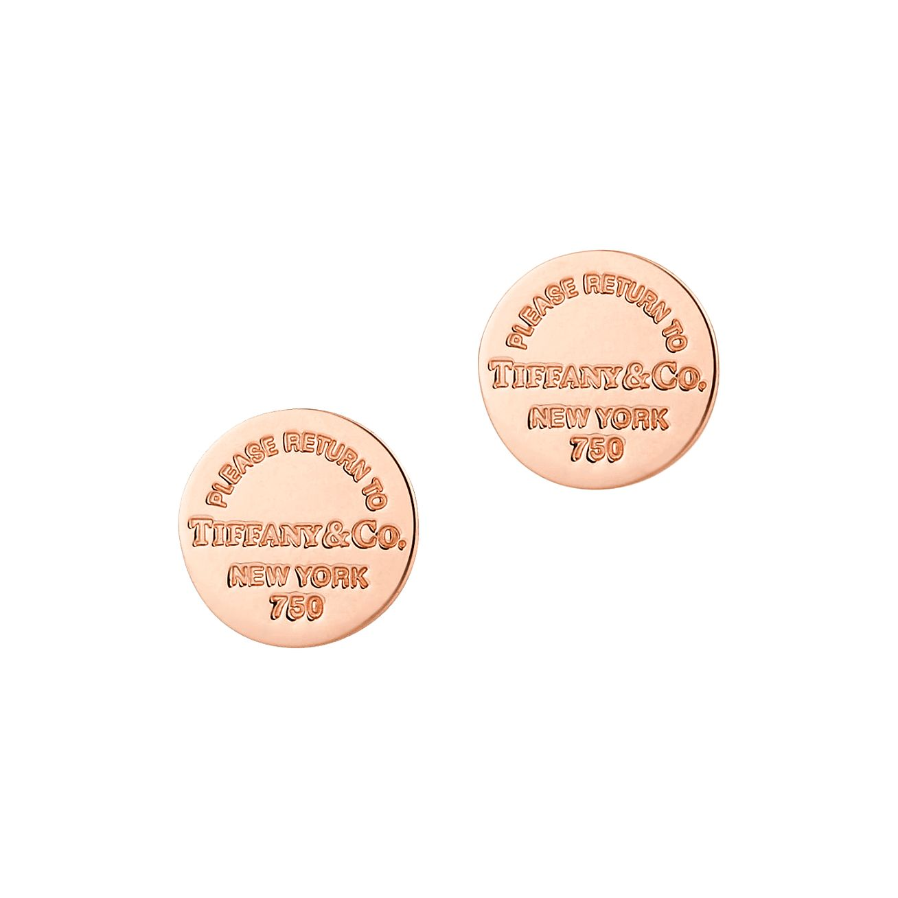 Return to Tiffany circle stud earrings in 18k rose gold Tiffany & Co. yhgBx761g