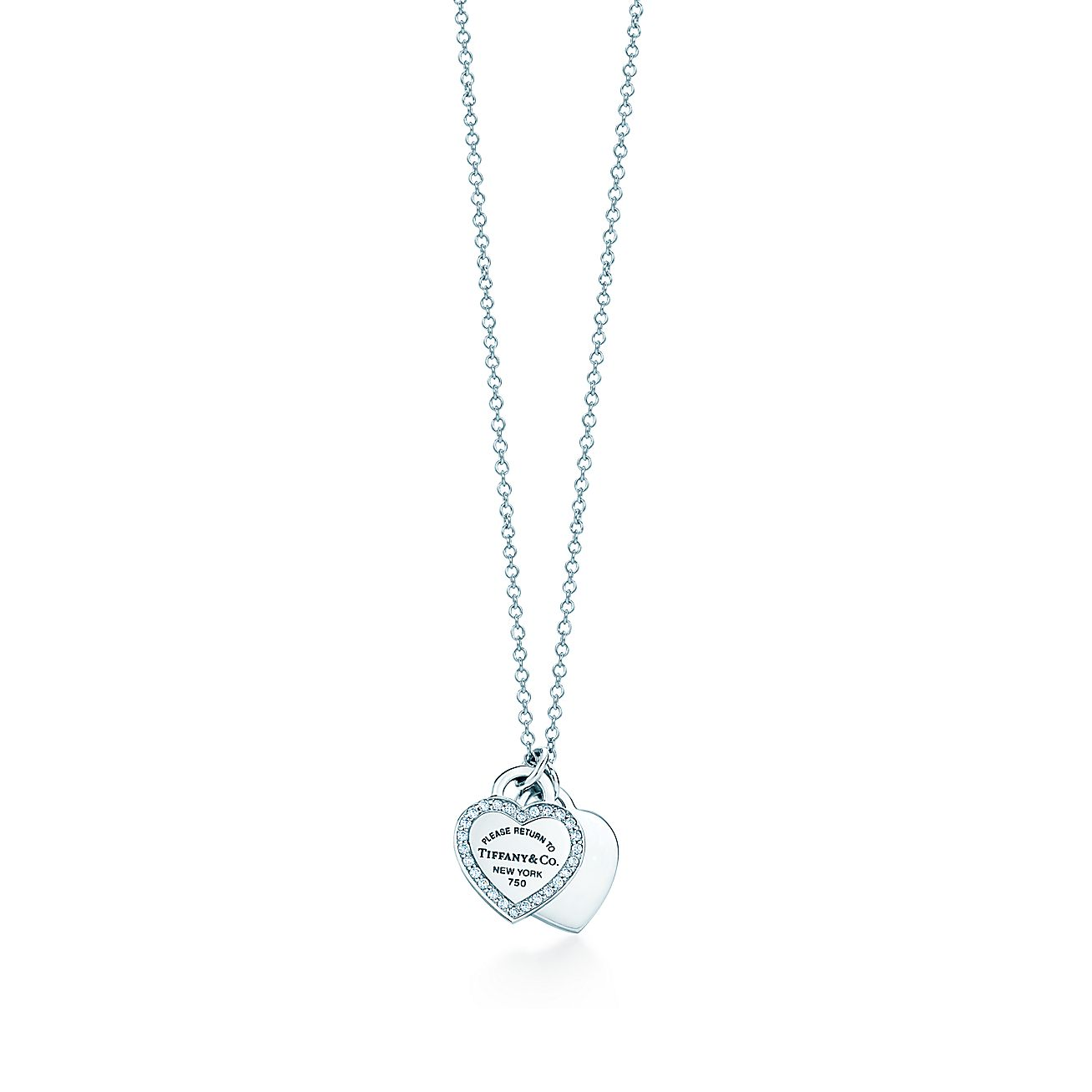 Return to Tiffany®:Double Heart Tag Pendant