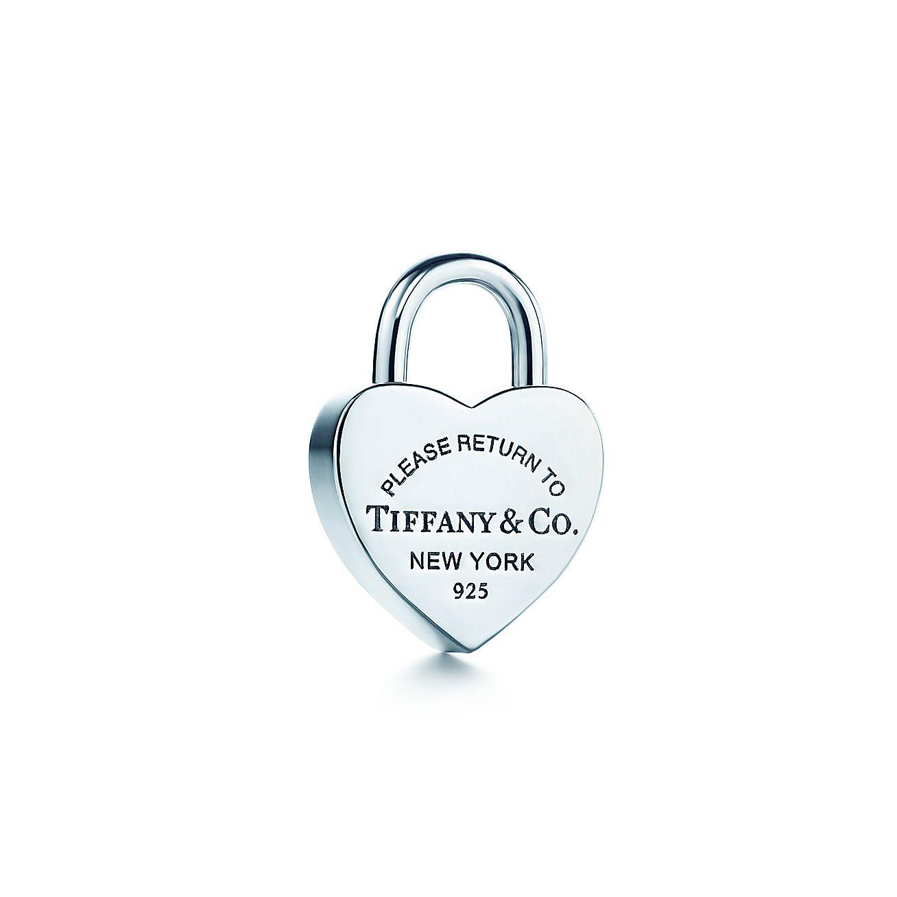 Return To TiffanyTM Heart Lock Charm In Sterling Silver