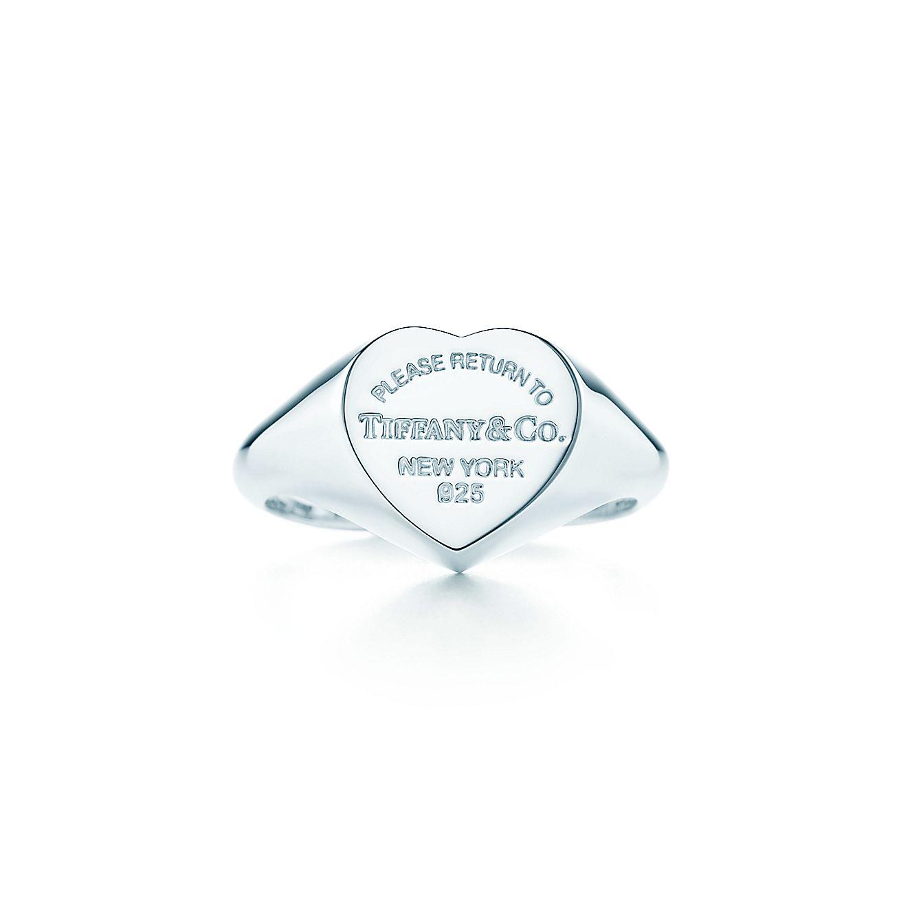 Return to Tiffany®:Heart Signet Ring