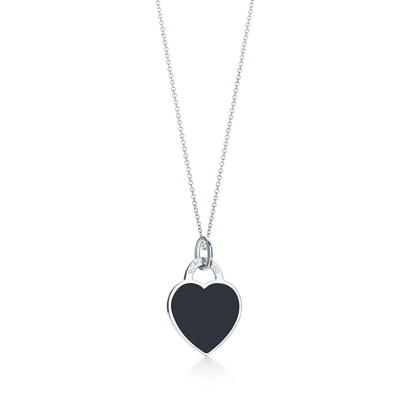 Return to tiffany heart tag charm in sterling silver with enamel return to tiffany heart tag charm in sterling silver with enamel finish small tiffany co audiocablefo light Images