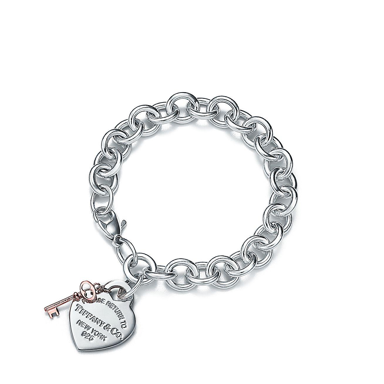 return to tiffany heart tag key bracelet in sterling. Black Bedroom Furniture Sets. Home Design Ideas