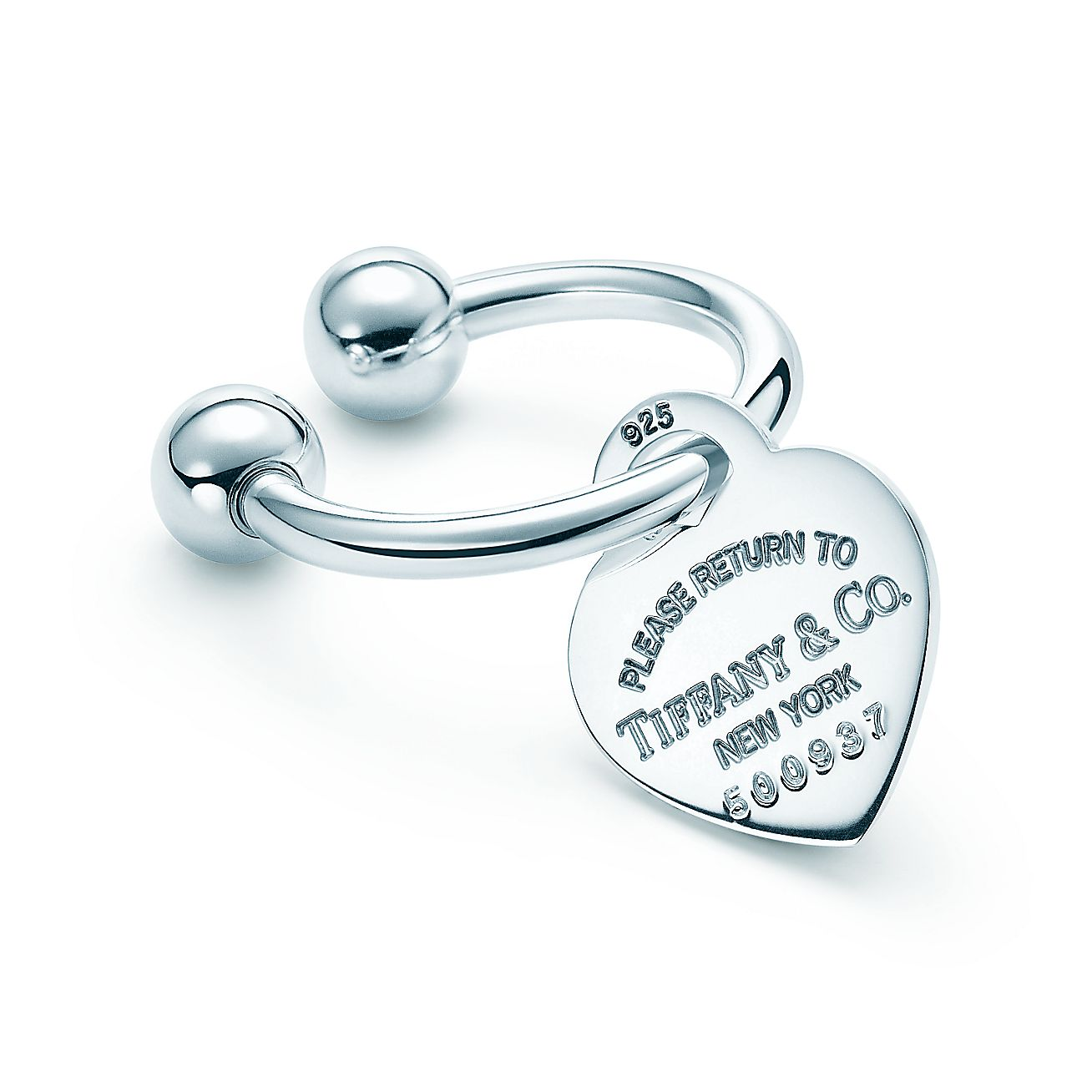 Return to Tiffany®:Heart Tag Key Ring