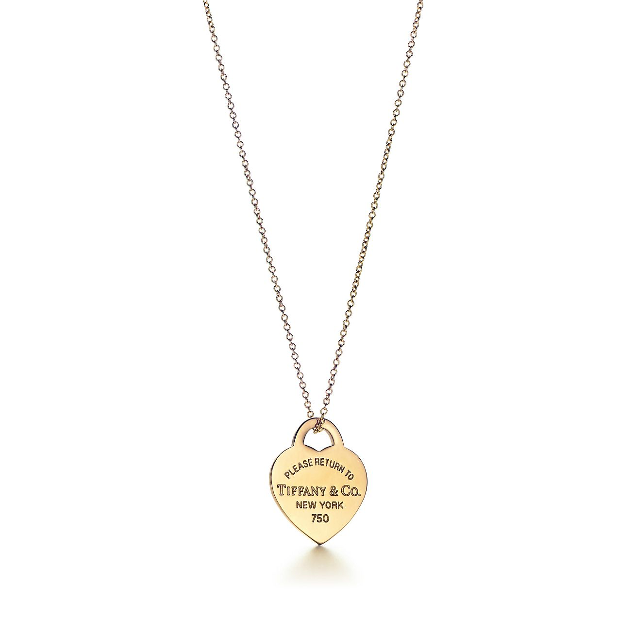 Return to Tiffany® heart tag pendant in 18k gold, small ...