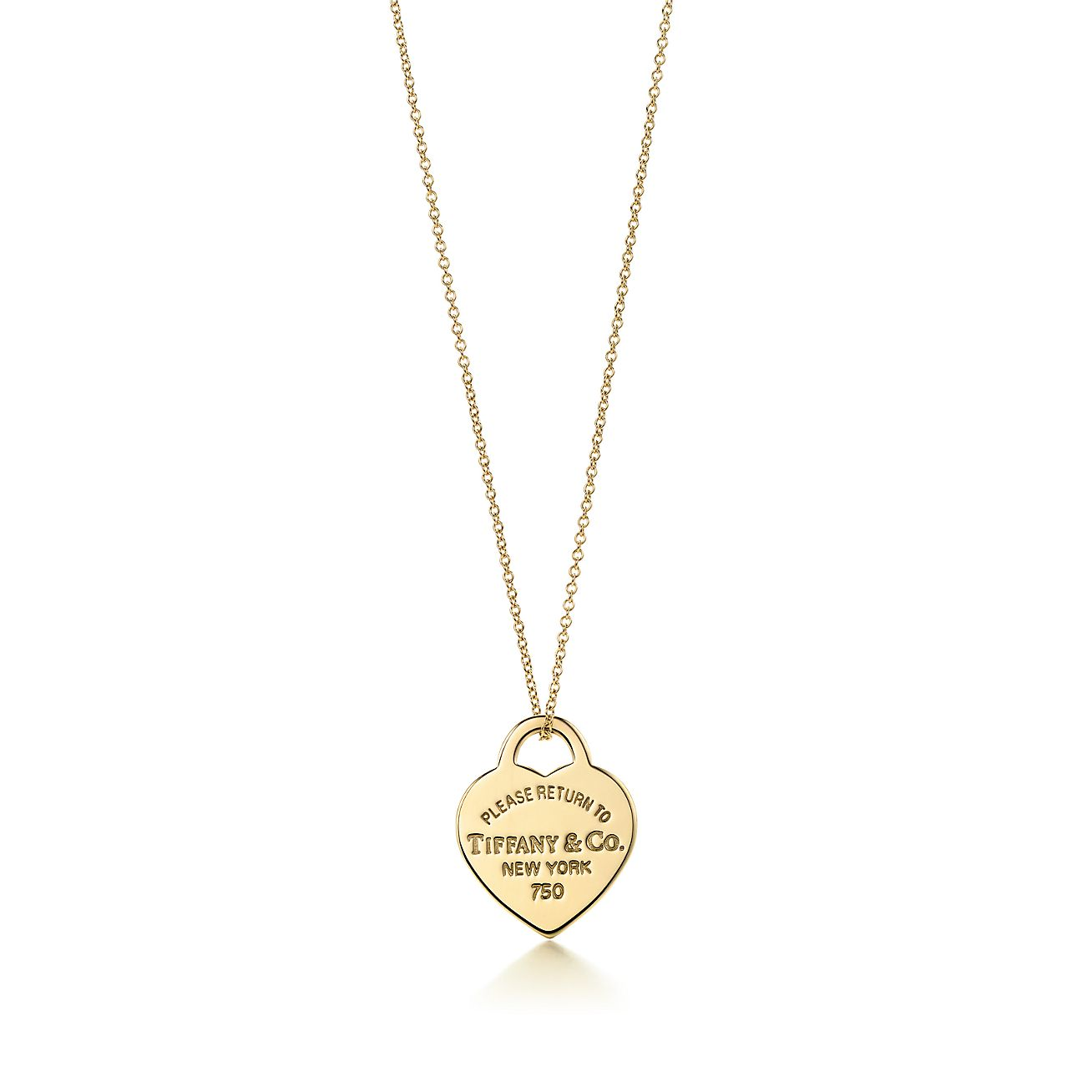 return to 174 tag pendant in 18k gold small