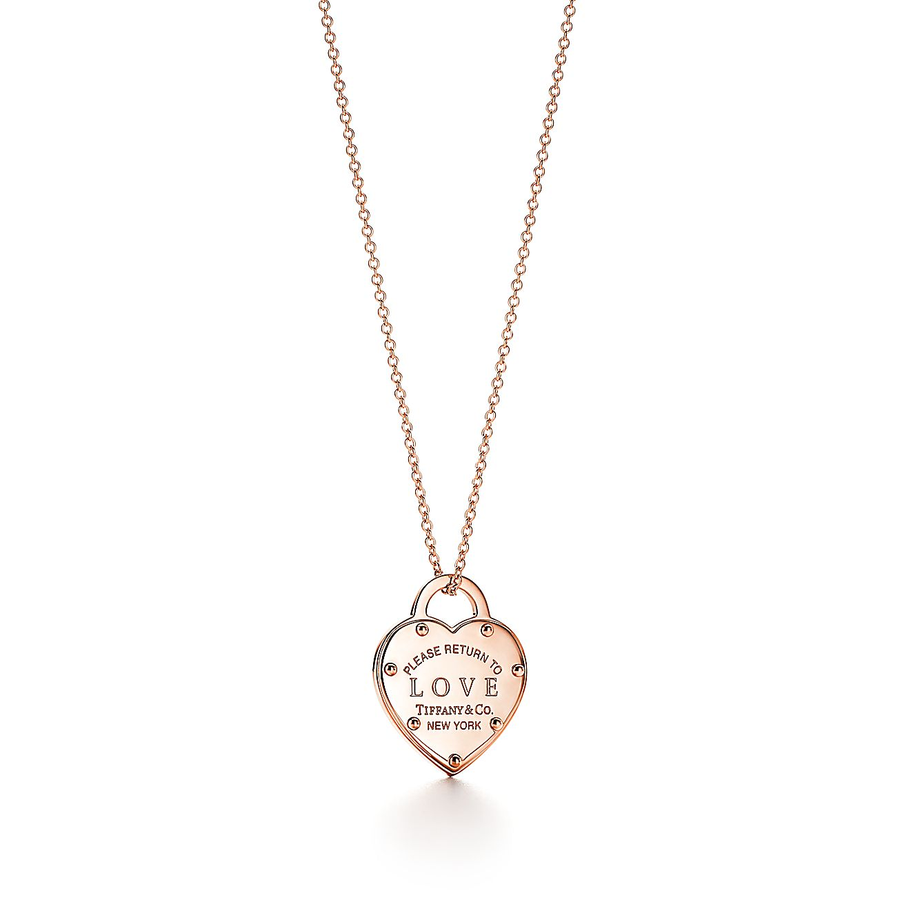 Return To Tiffany 174 Love Pendant In 18k Rose Gold