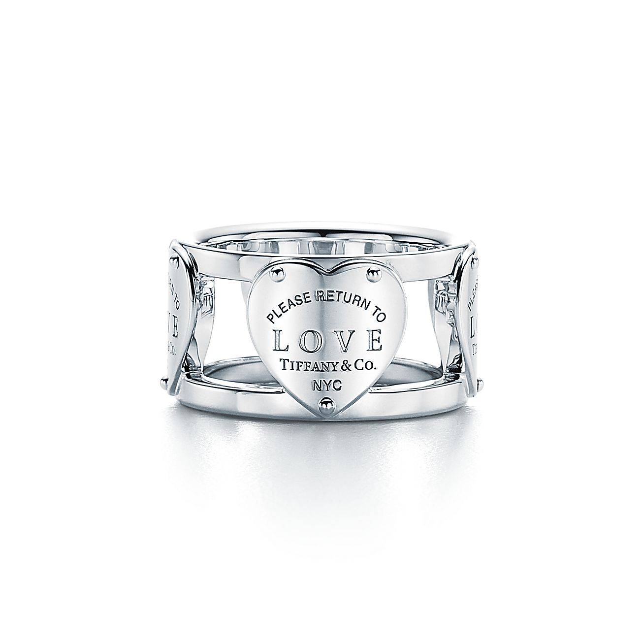 Return To Tiffany 174 Love Wide Ring In Sterling Silver
