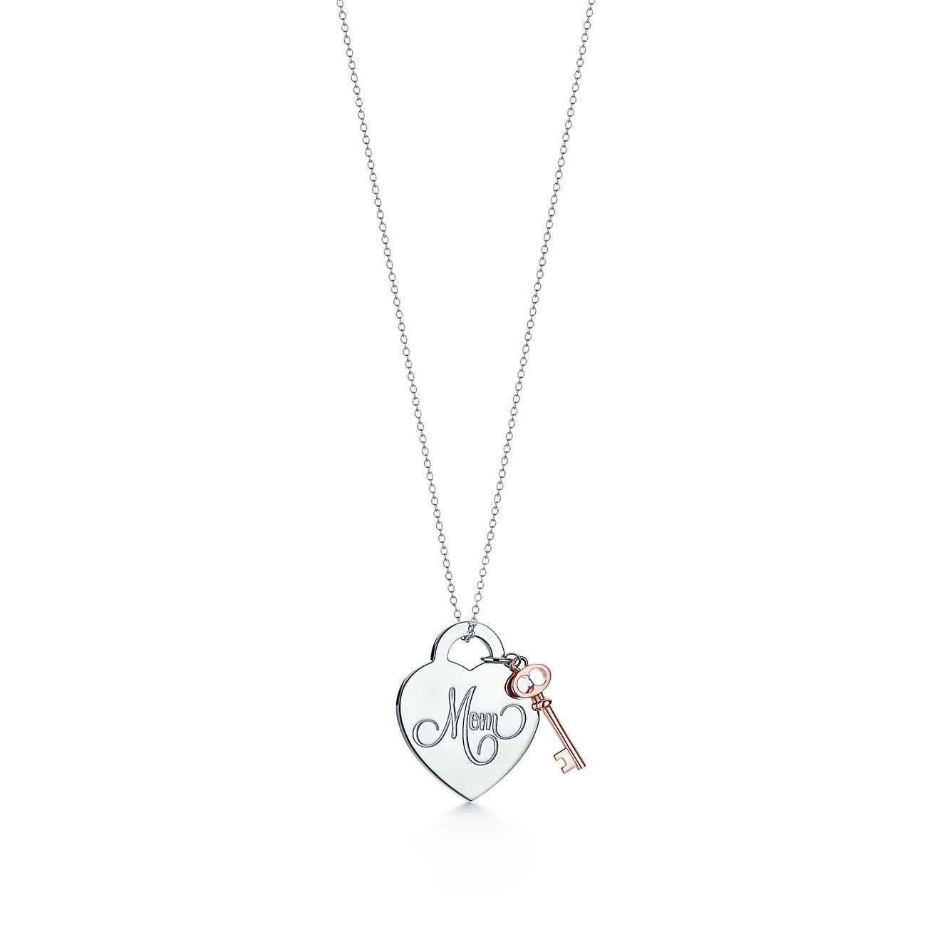Return to Tiffany® Mom Heart Tag with Key Pendant