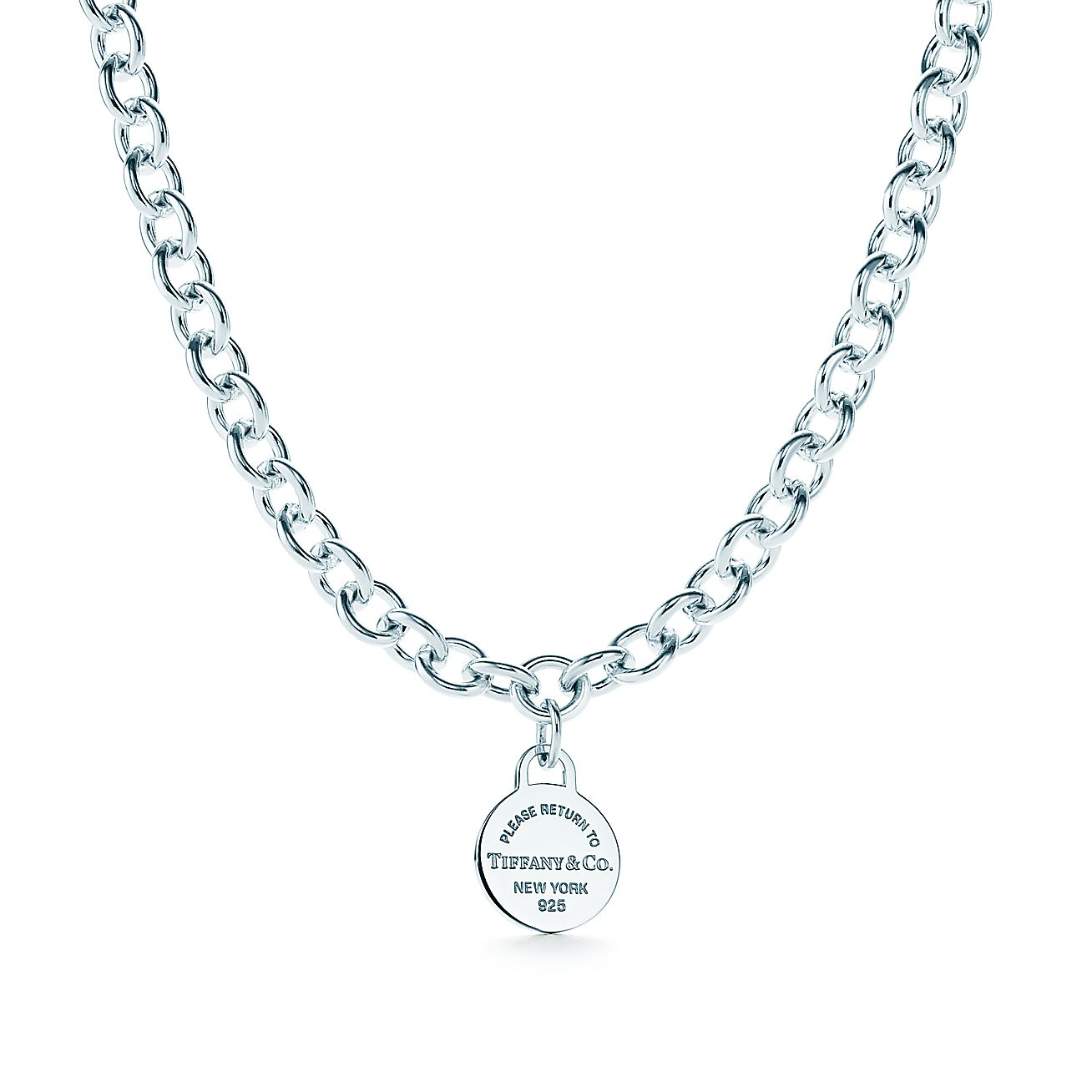 Return to Tiffany®:Round Tag Necklace