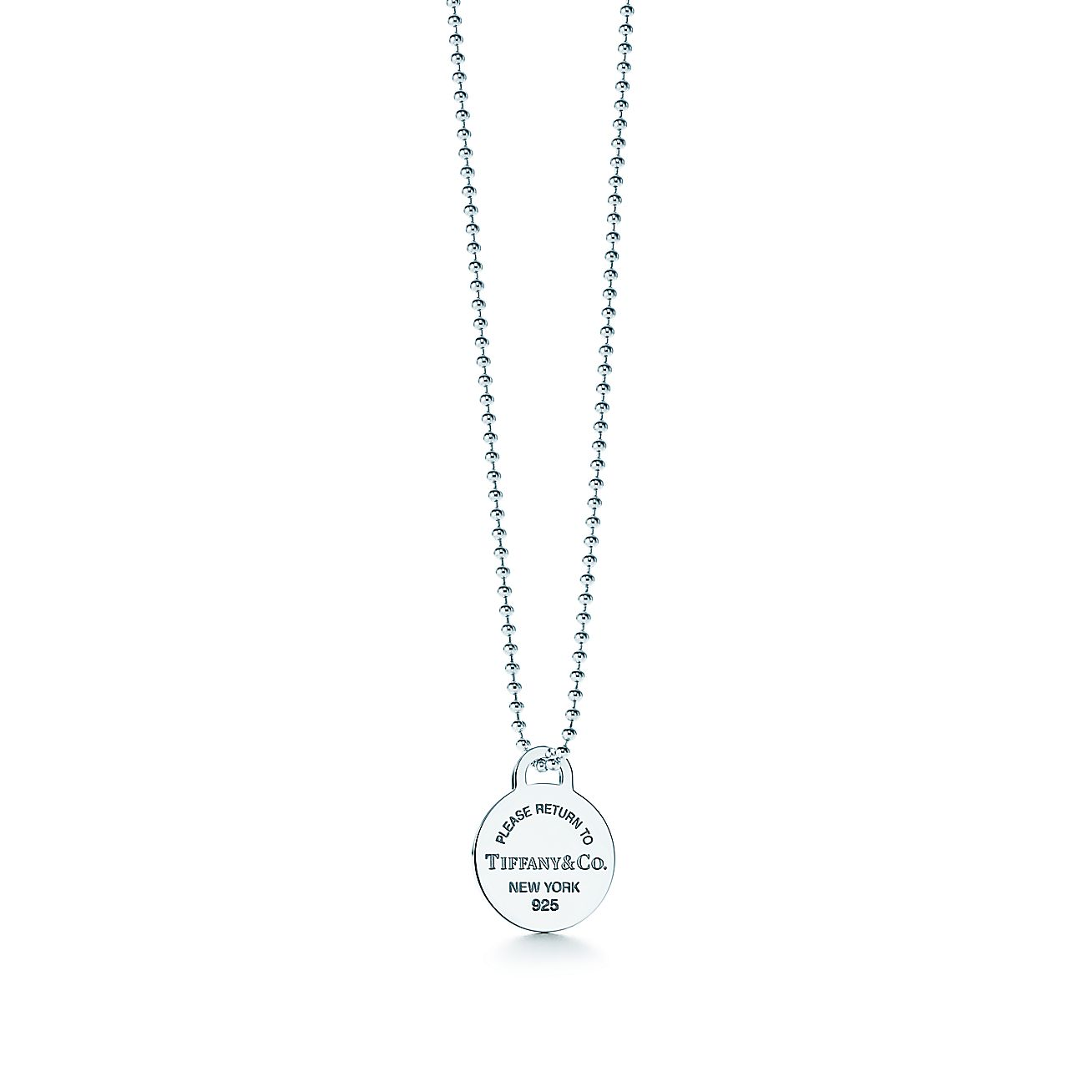 Return to Tiffany®:Round Tag Pendant