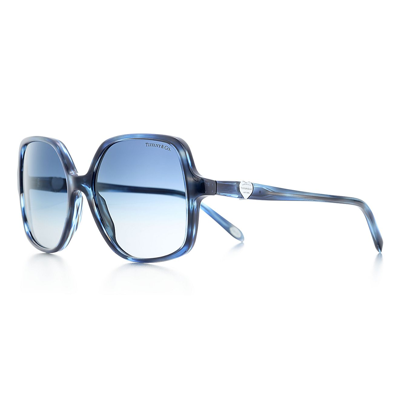 1593d4e029 Return to Tiffany™ square sunglasses in ocean blue and black acetate.