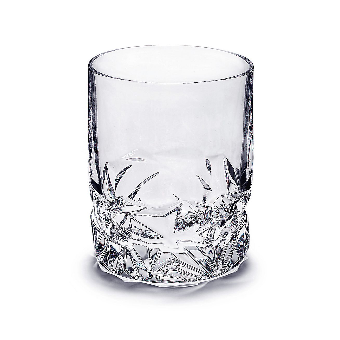 Double Strength Glass Cutting : Rock cut double old fashioned glass in crystal tiffany